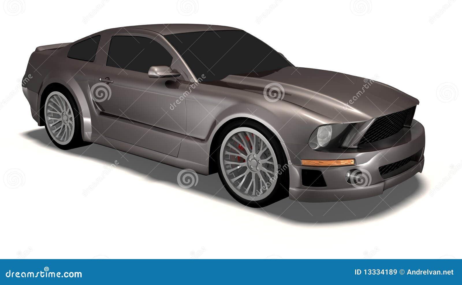 3d samochodu mustang