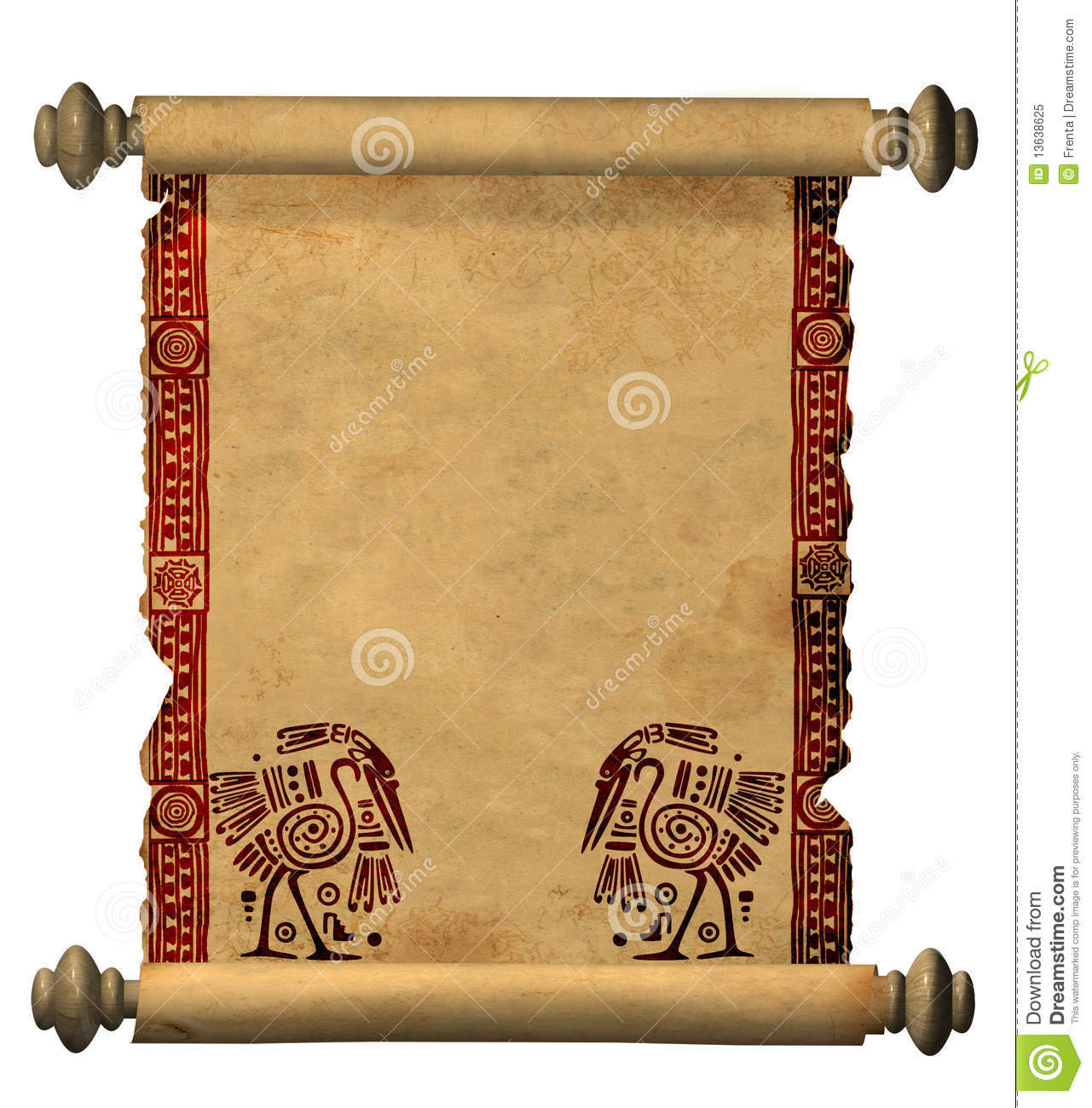 3d Scroll Of Old Parchment Royalty Free Stock Photo ...