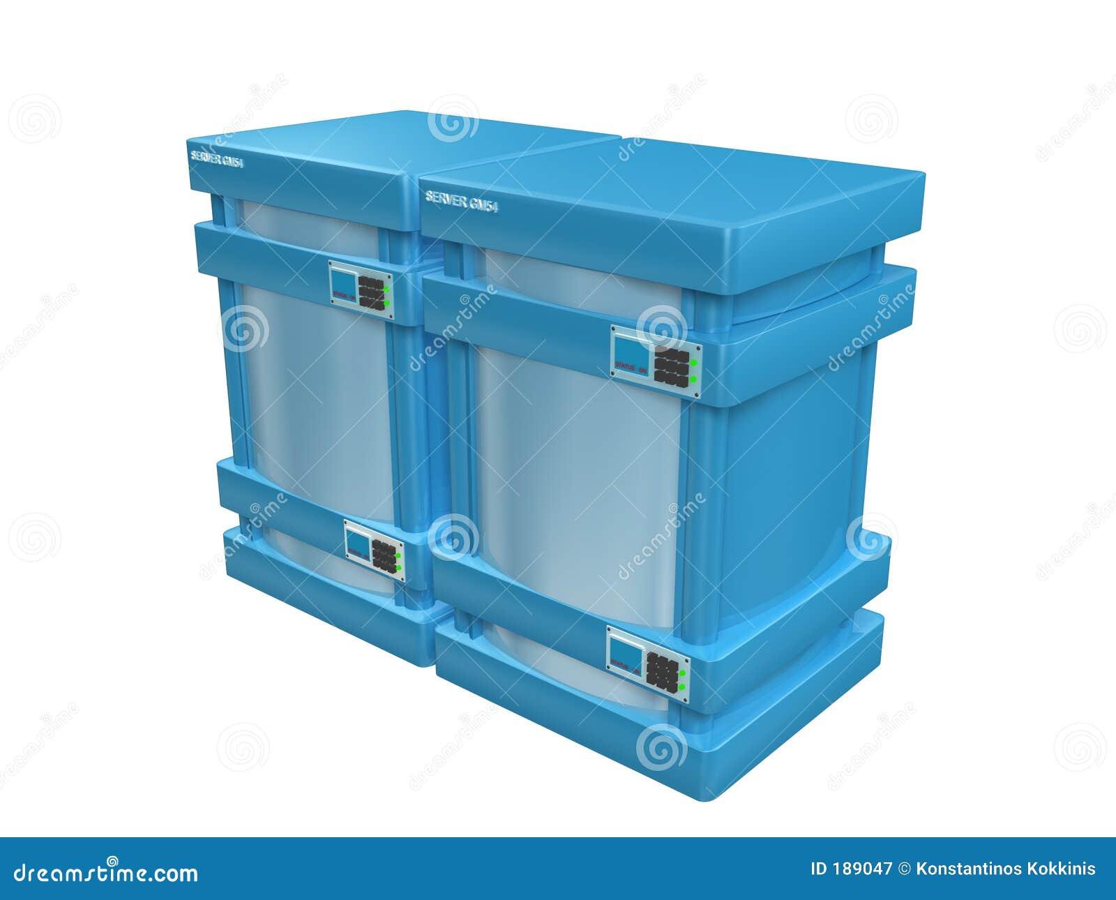 3d servidores azules #2a