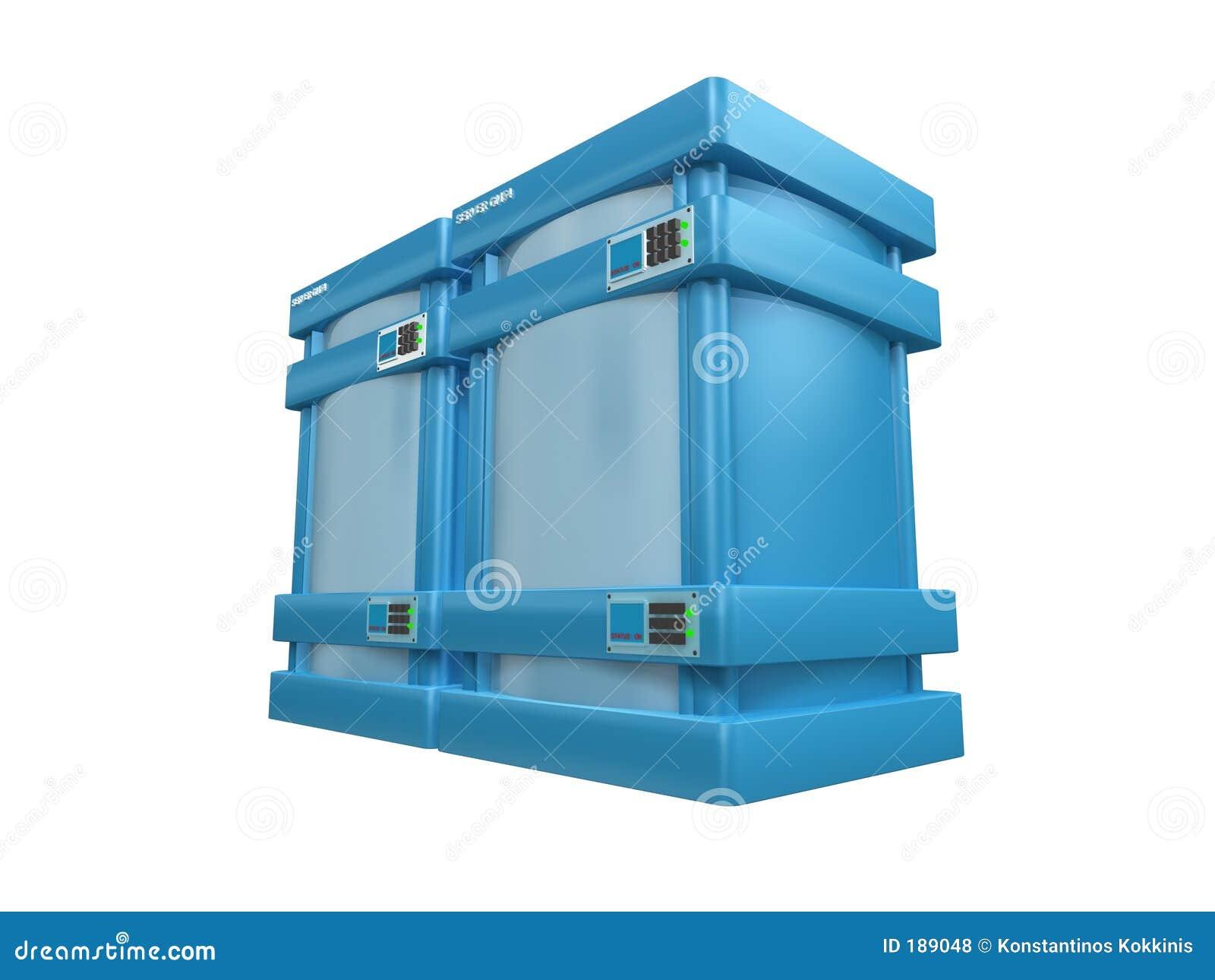 3d servidores azules #2b