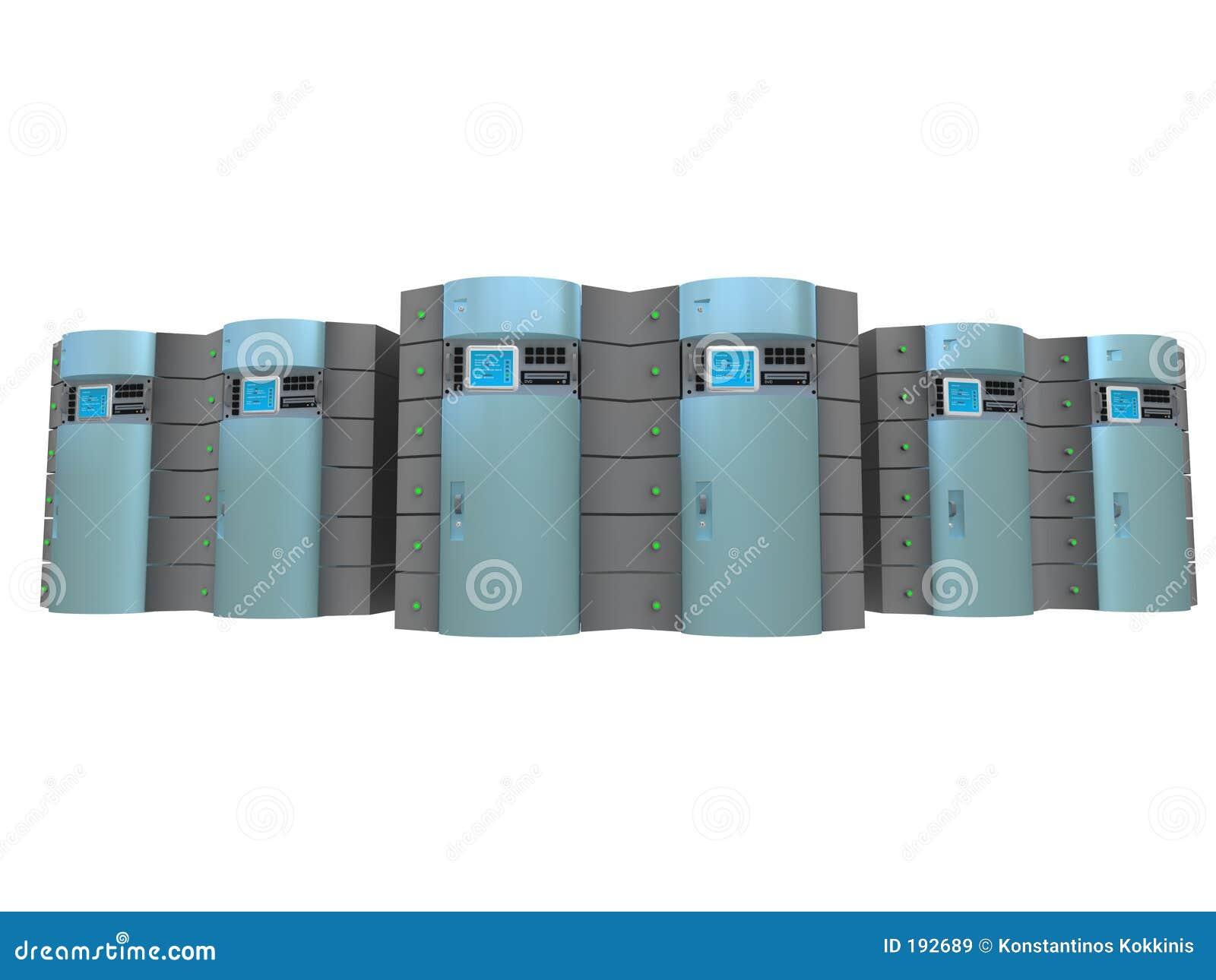 3d servidores azules #3