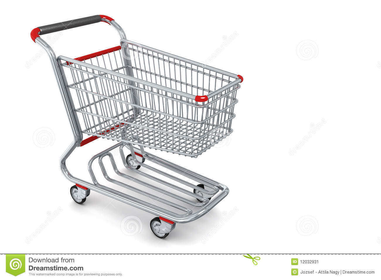 3d shopping cart icon high detailed stock illustration