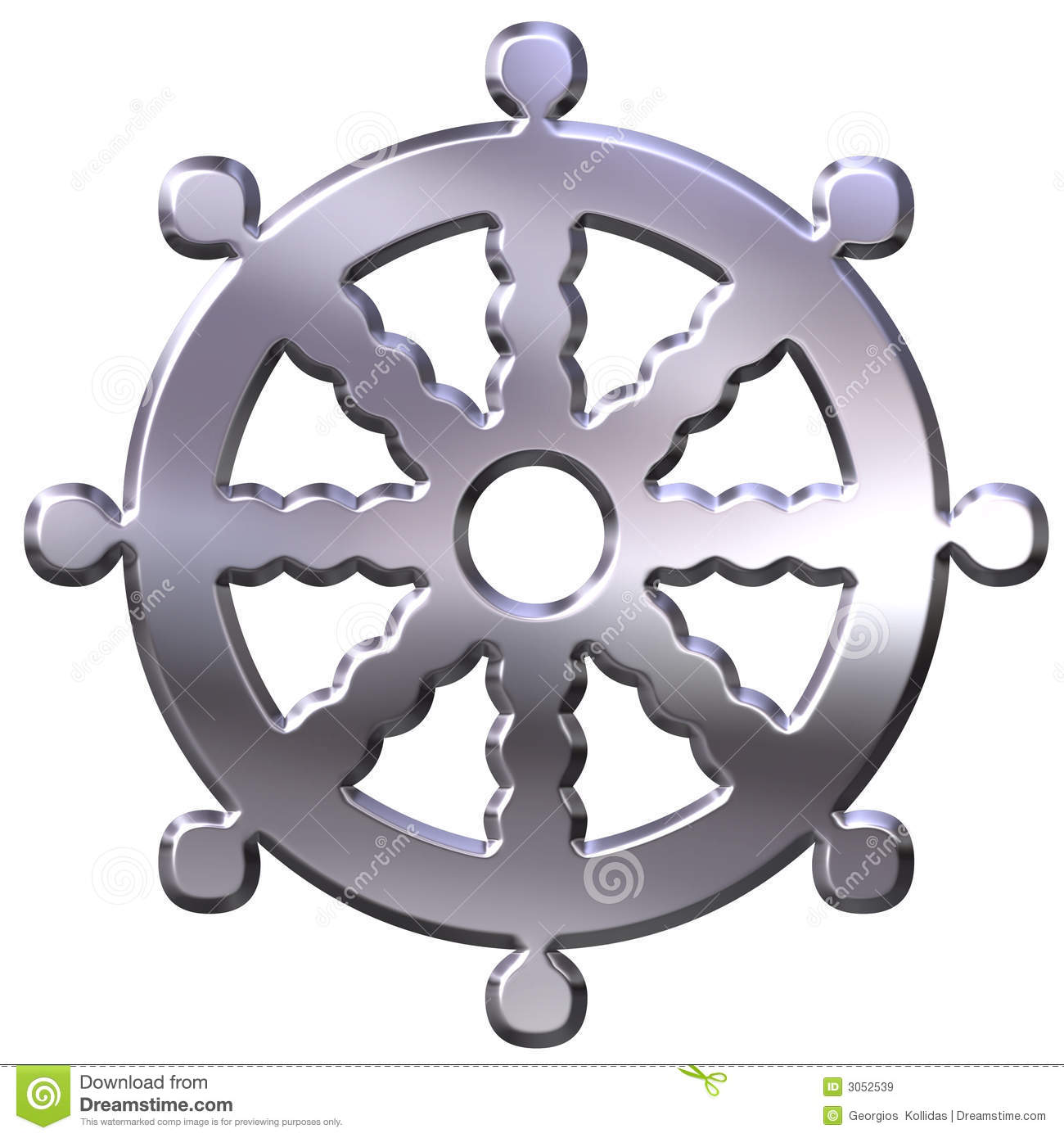Golden buddhism wheel of the dharma stock image image of concept 3d silver buddhism symbol royalty free stock images biocorpaavc Images