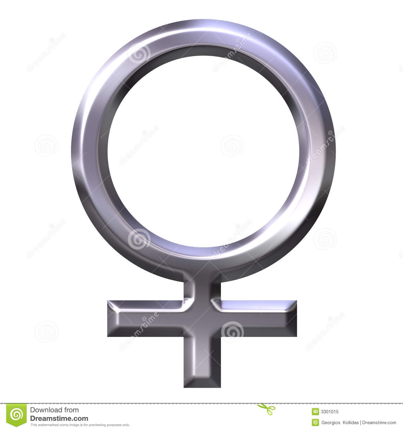 3D Silver Female Symbol Royalty Free Stock Photo - Image: 3301015