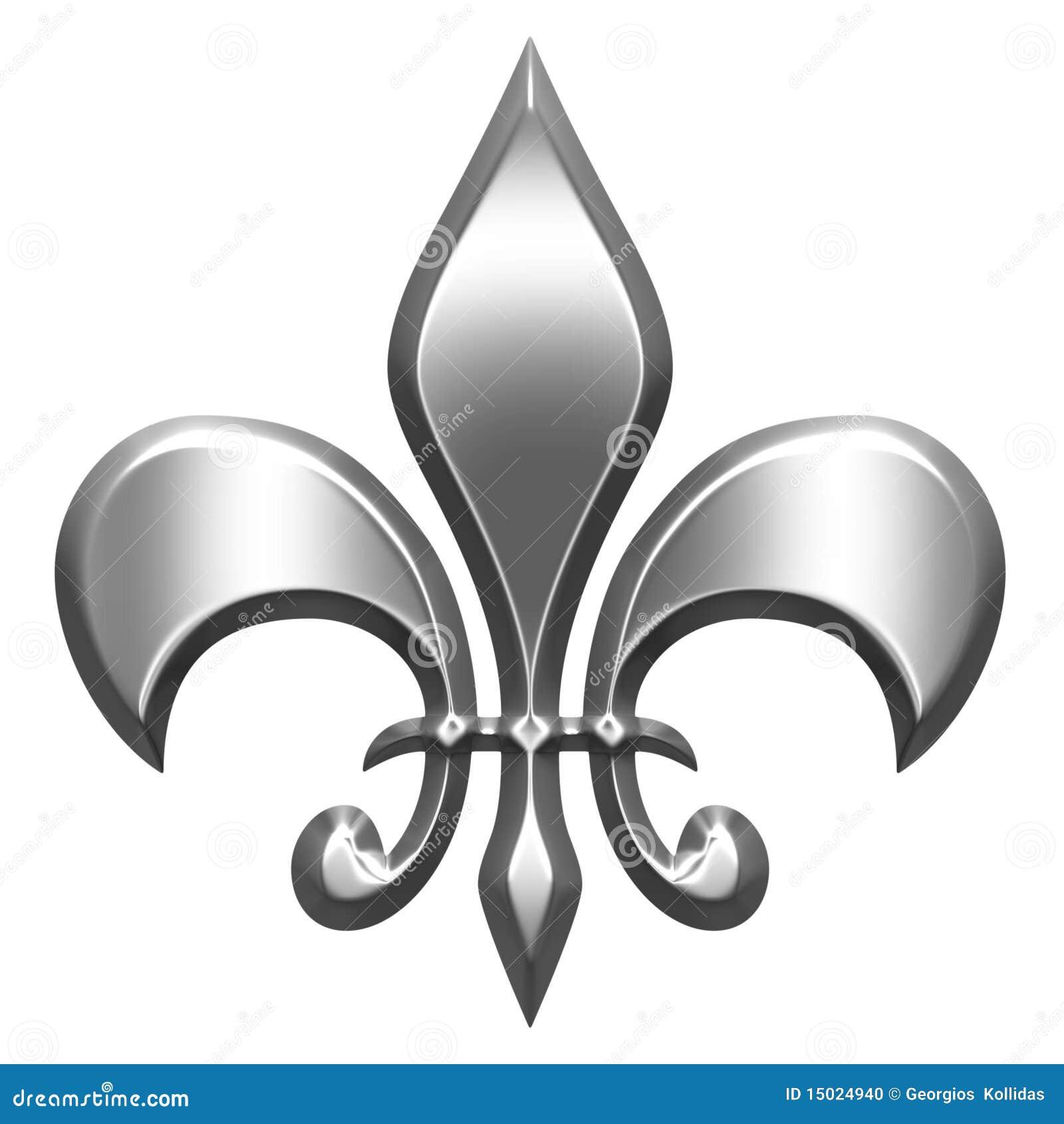 3d Silver Fleur De Lis Stock Illustration Image Of