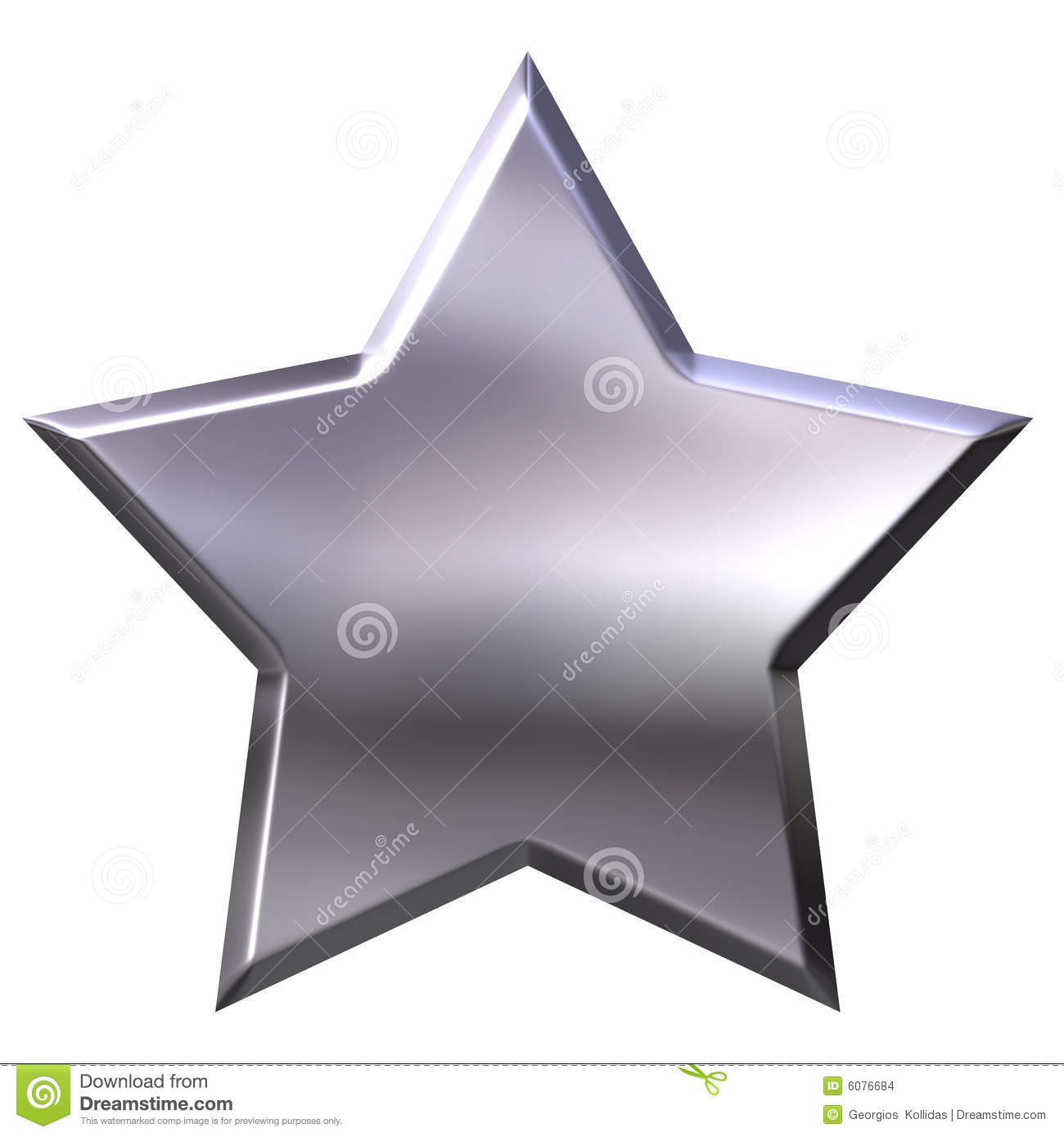 3D Silver Star Stock Images - Image: 6076684
