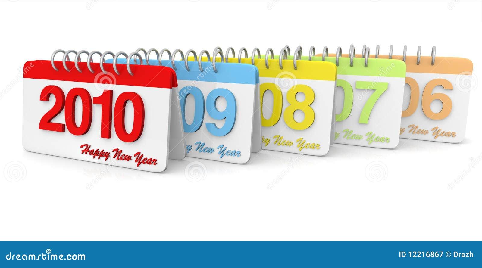 3D simple 2006 till 2010 Calendar