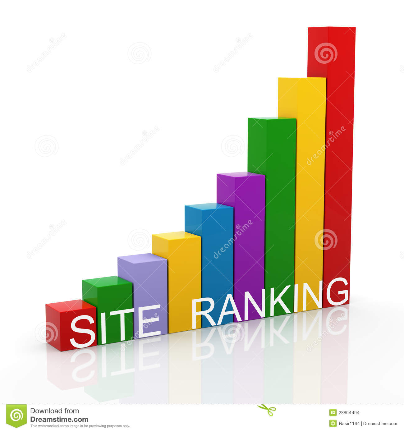 3d site ranking progress bars stock images image 28804494 3d site
