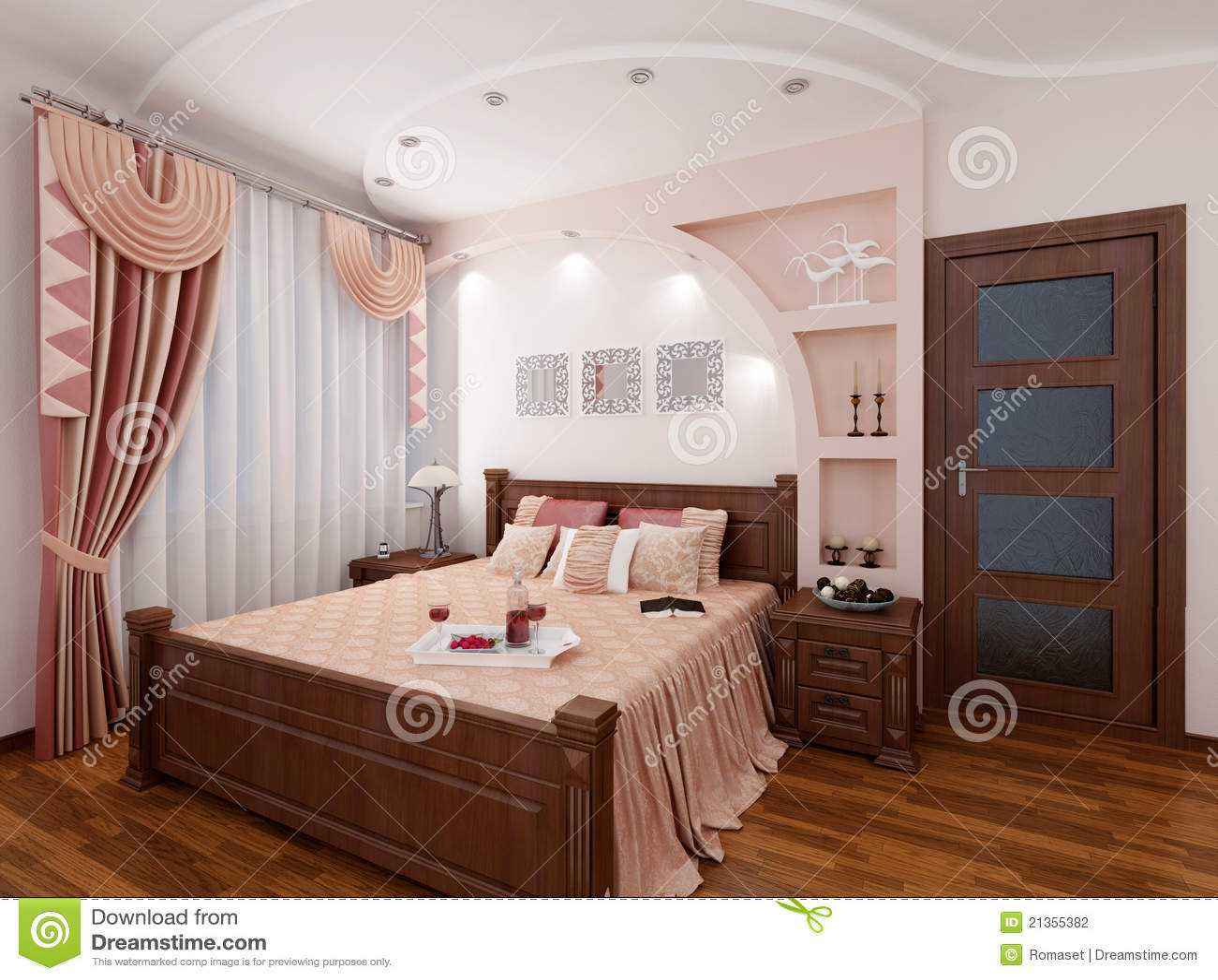 3d slaapkamer stock fotografie beeld 21355382 for 3d slaapkamer maken