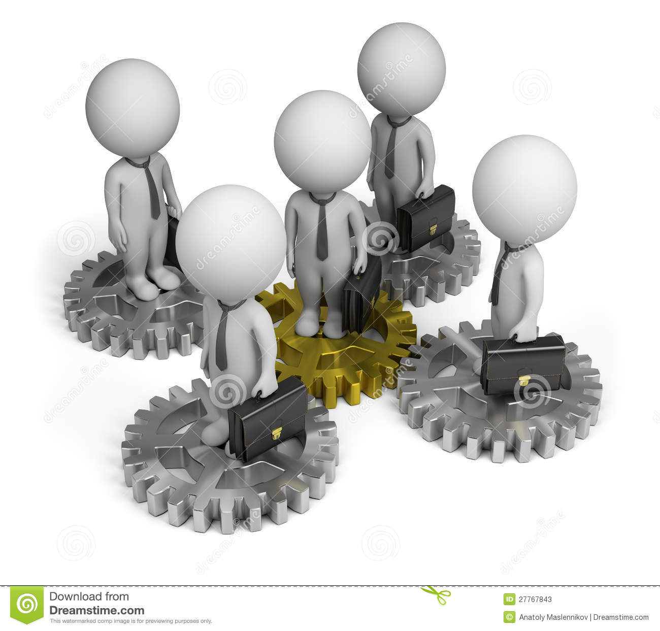3d Small People Business Team Stock Photos Image 27767843