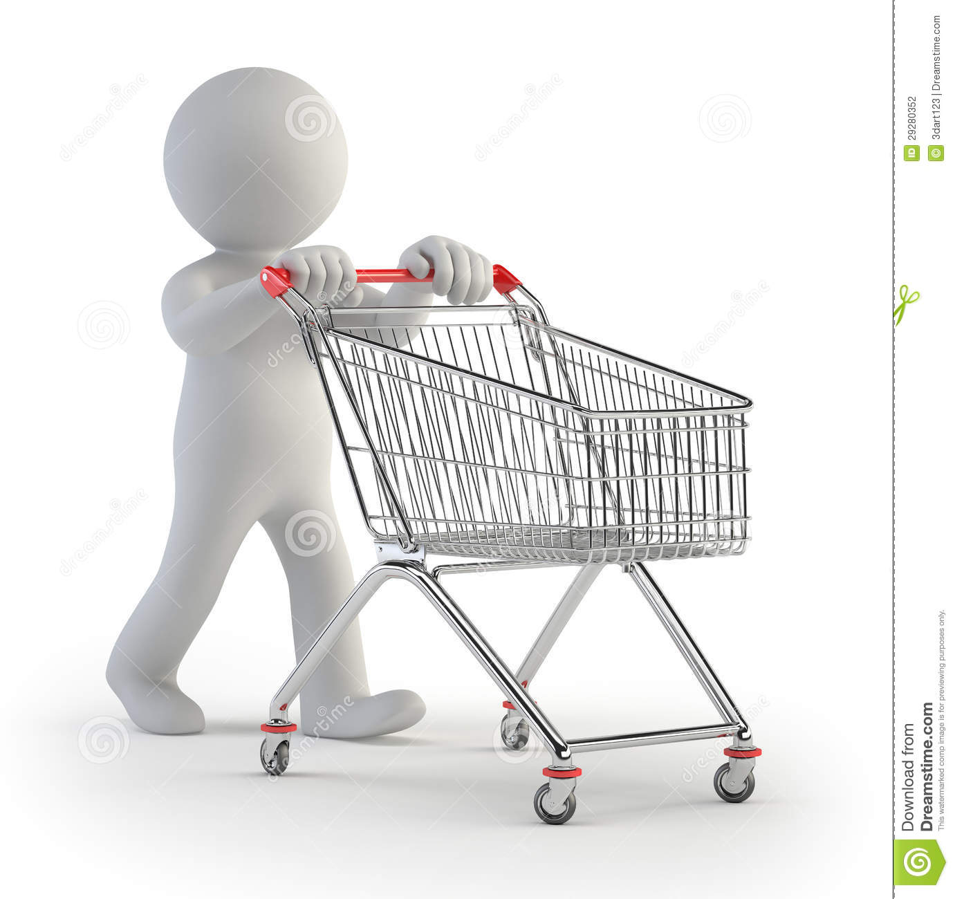 3d small people cart stock photography image 29280352 for Dreamhome com