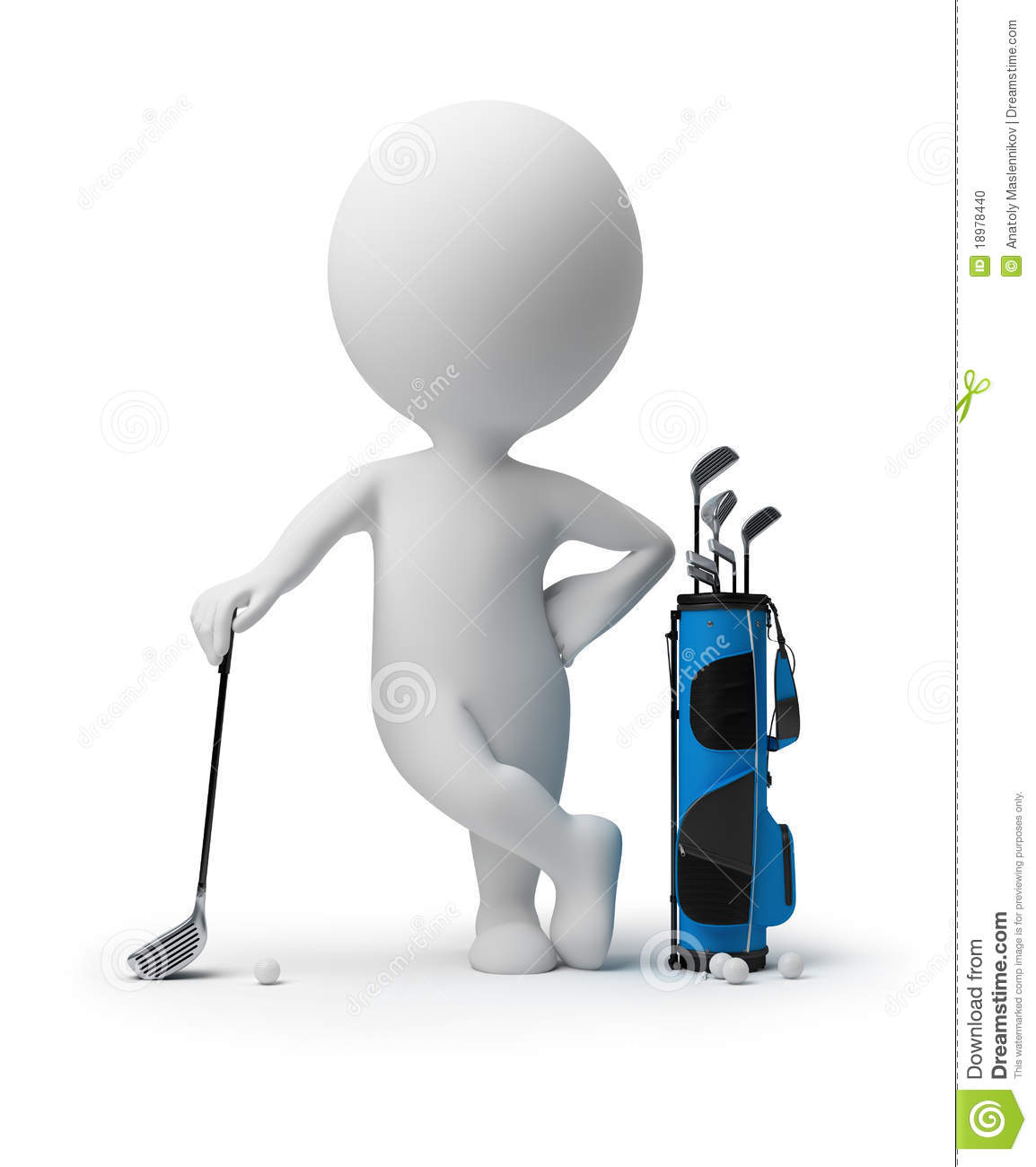 3d Small People - Golf...