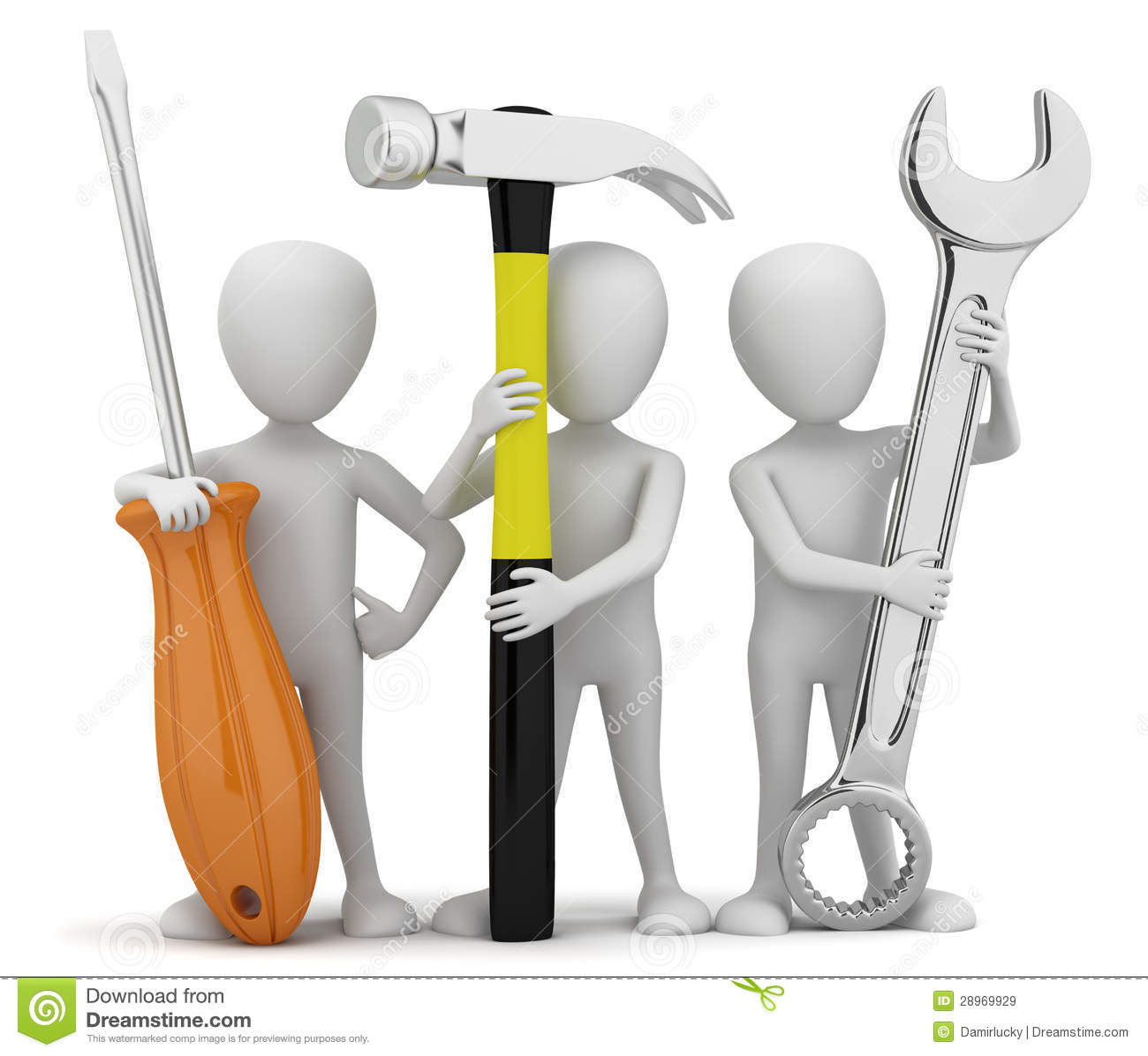 3d small people repairers royalty free stock images for 3d setup builder