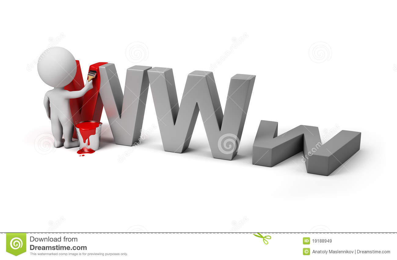 3d small people - site under construction