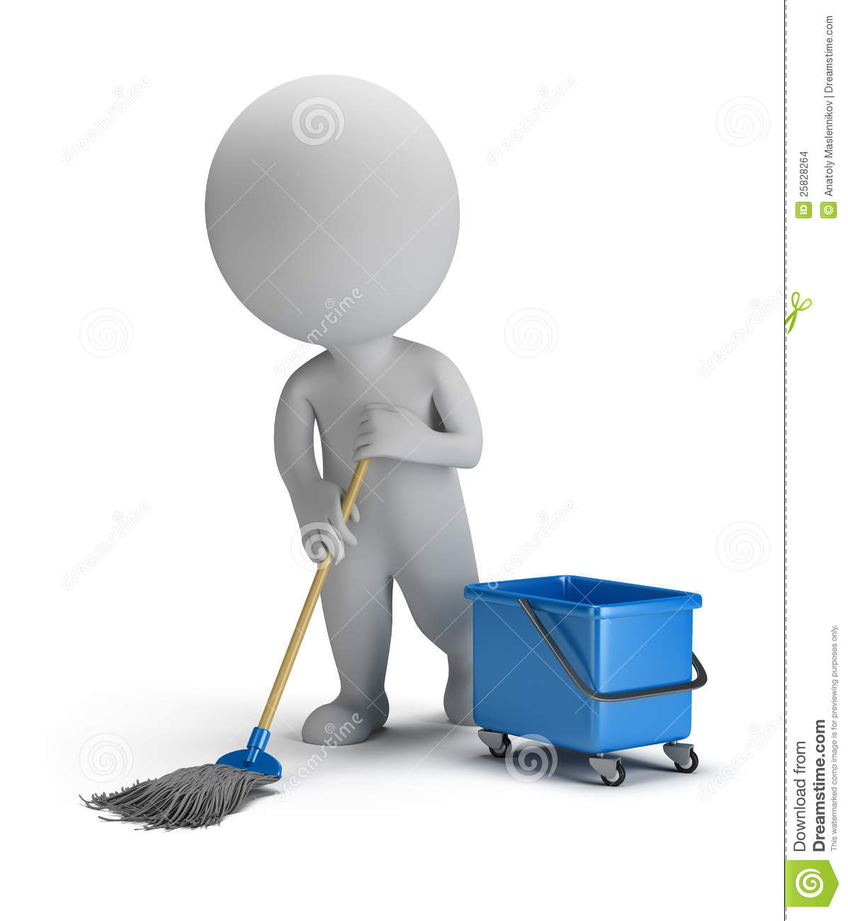 People Cleaning Services : D small people sweeper stock illustration