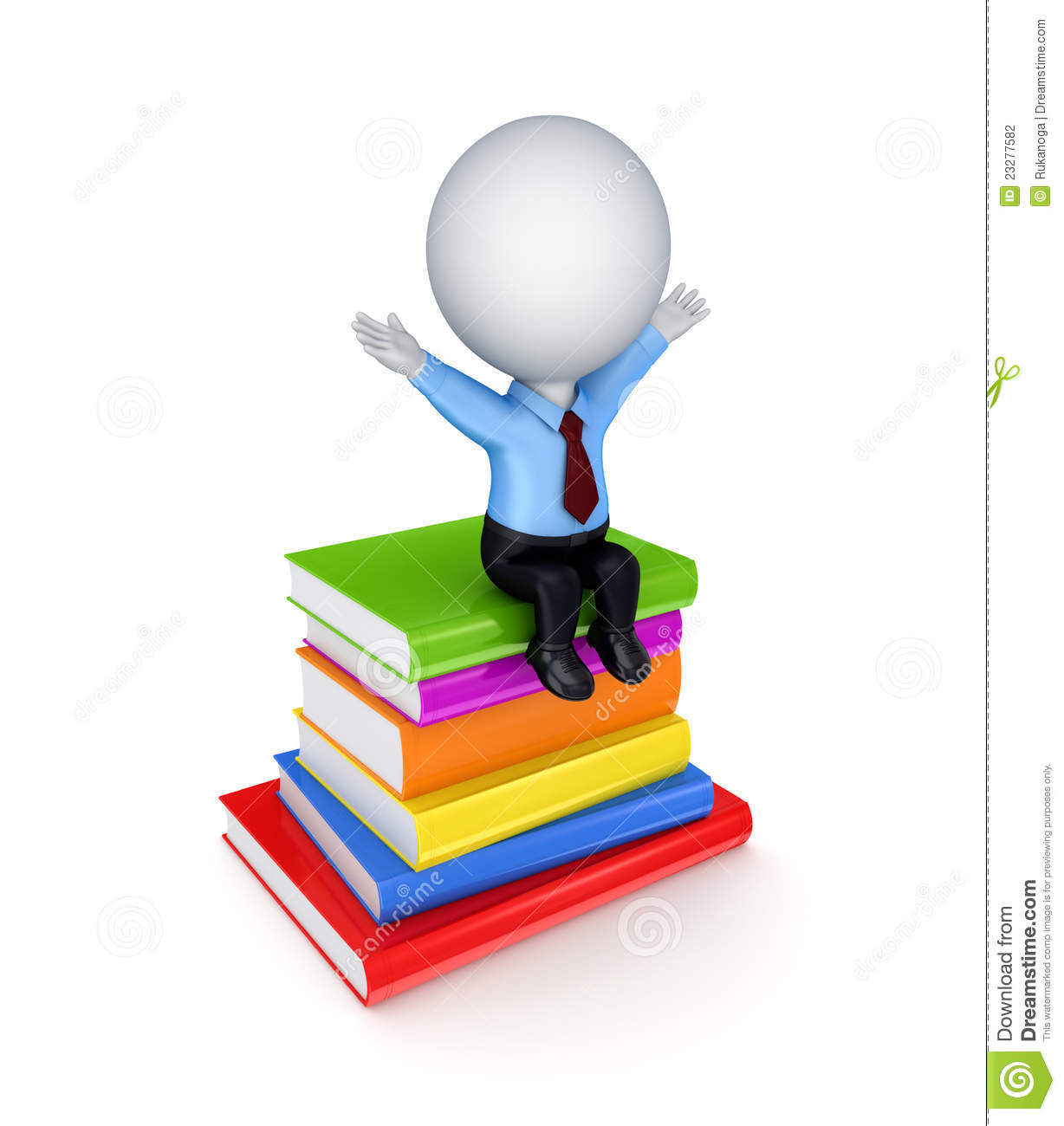 3d small person sitting on a stack of books stock photography image 23277582 stack of books vector free Vector Text Books