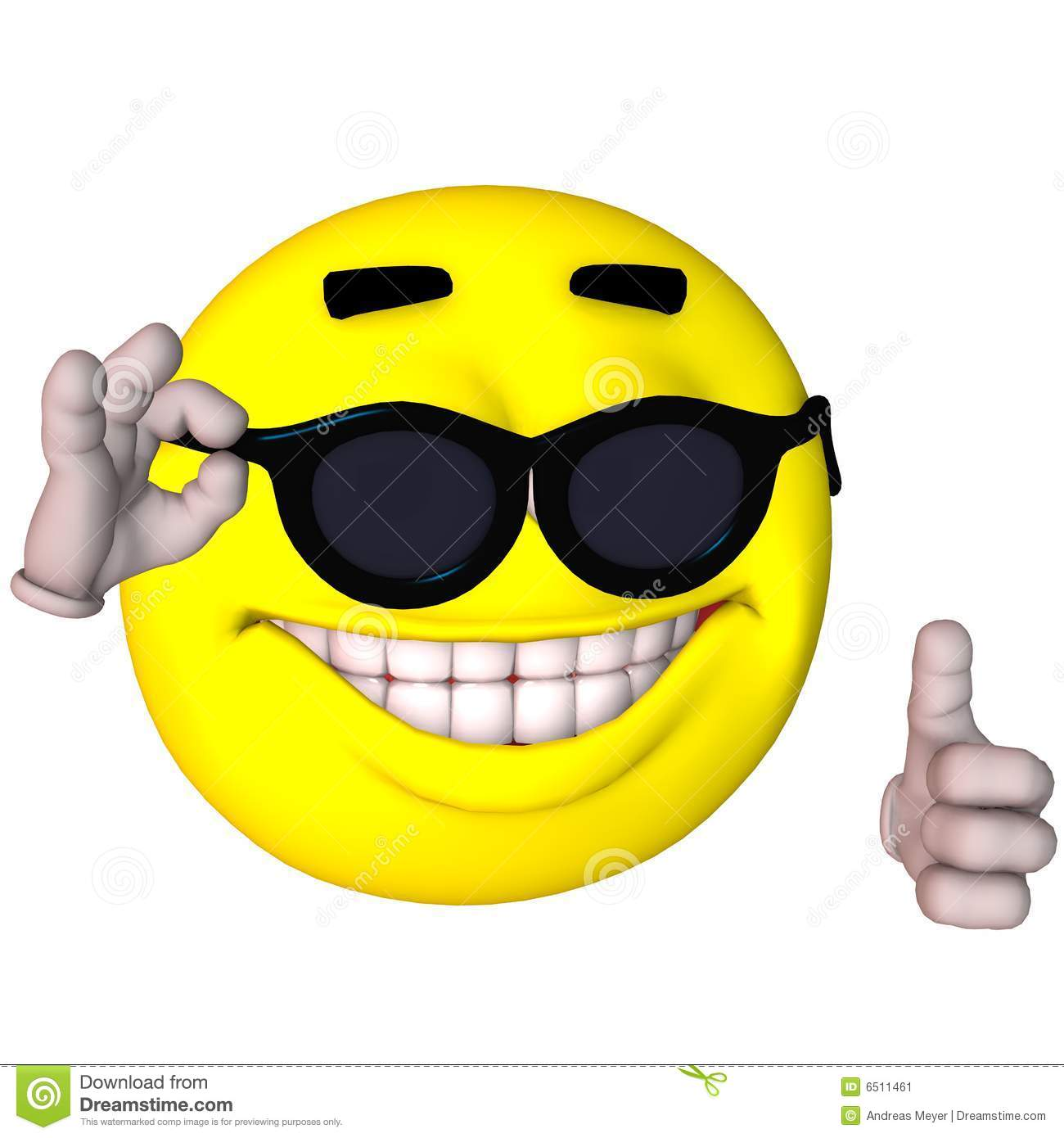 3D Smiley Stock Image - Image: 6511461