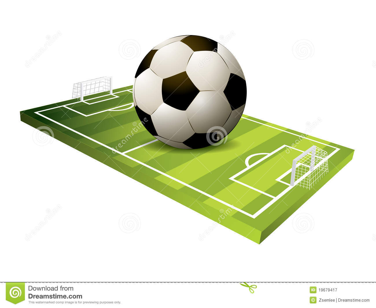 3d soccer field stock image  image of reflection  leisure