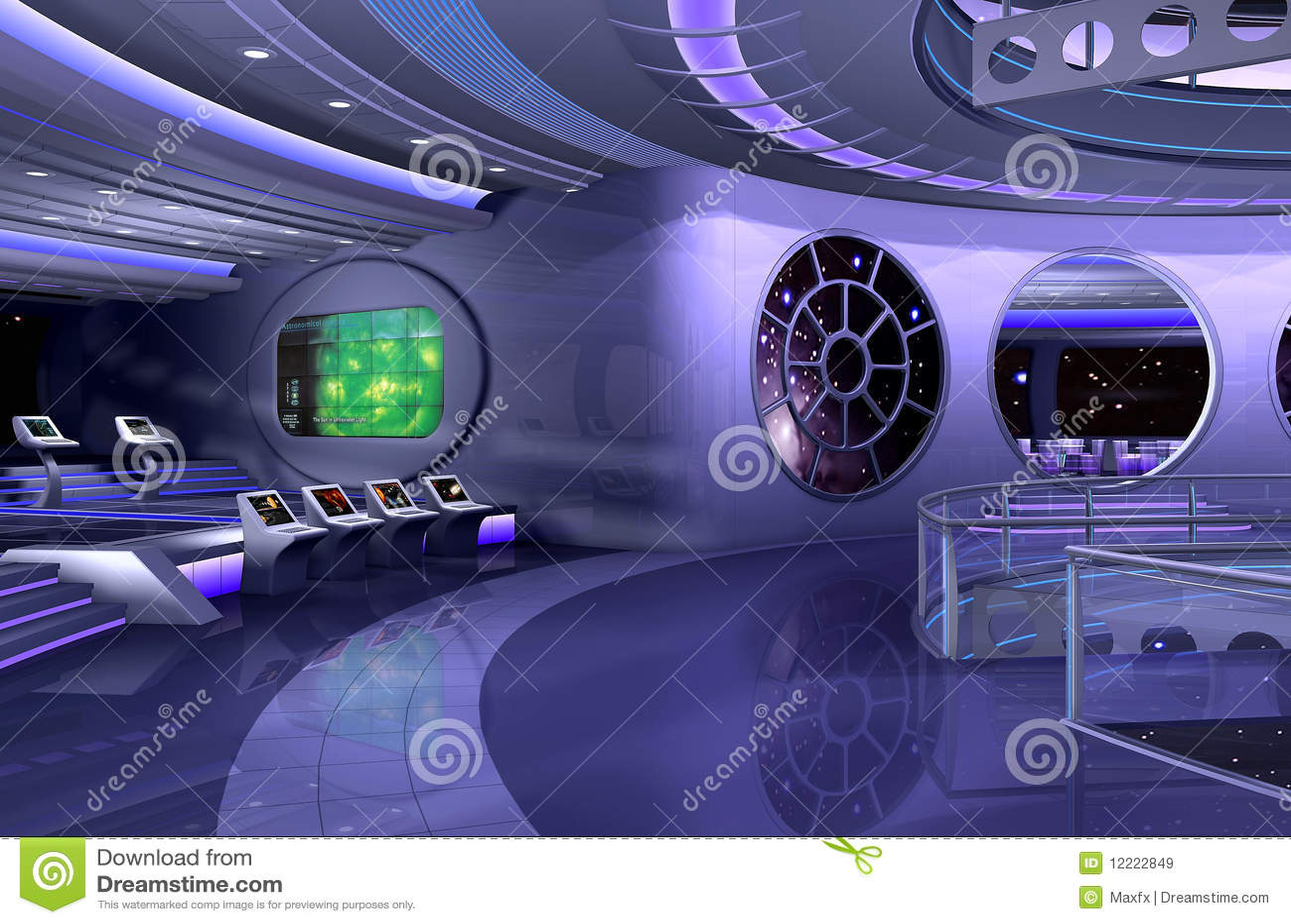 3d spaceship interior stock illustration illustration of technologic 12222849. Black Bedroom Furniture Sets. Home Design Ideas
