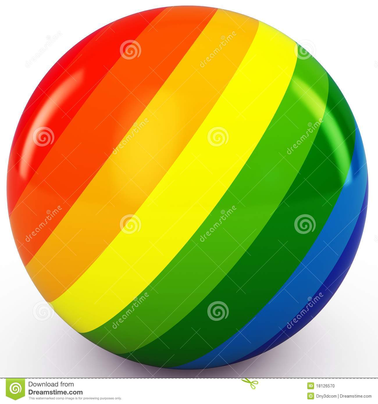 3d Sphere With Color Stripes Stock Photo