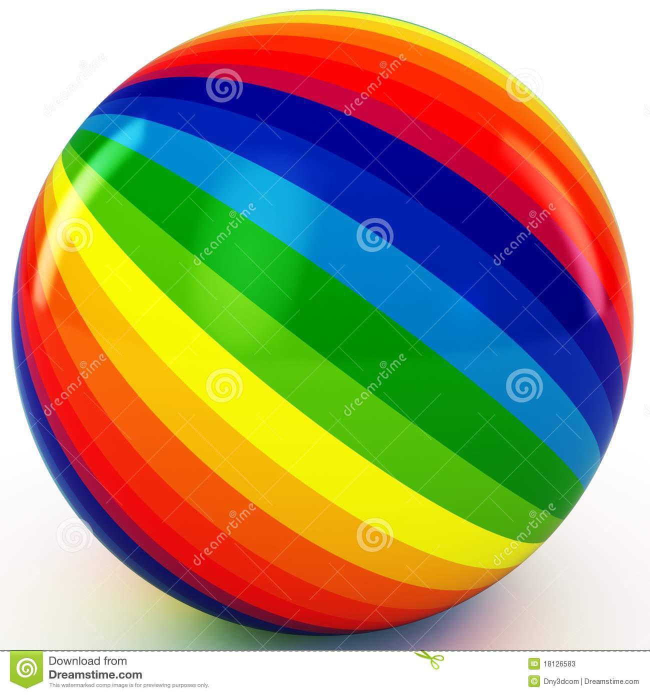 3d Sphere With Color Stripes Stock Photos
