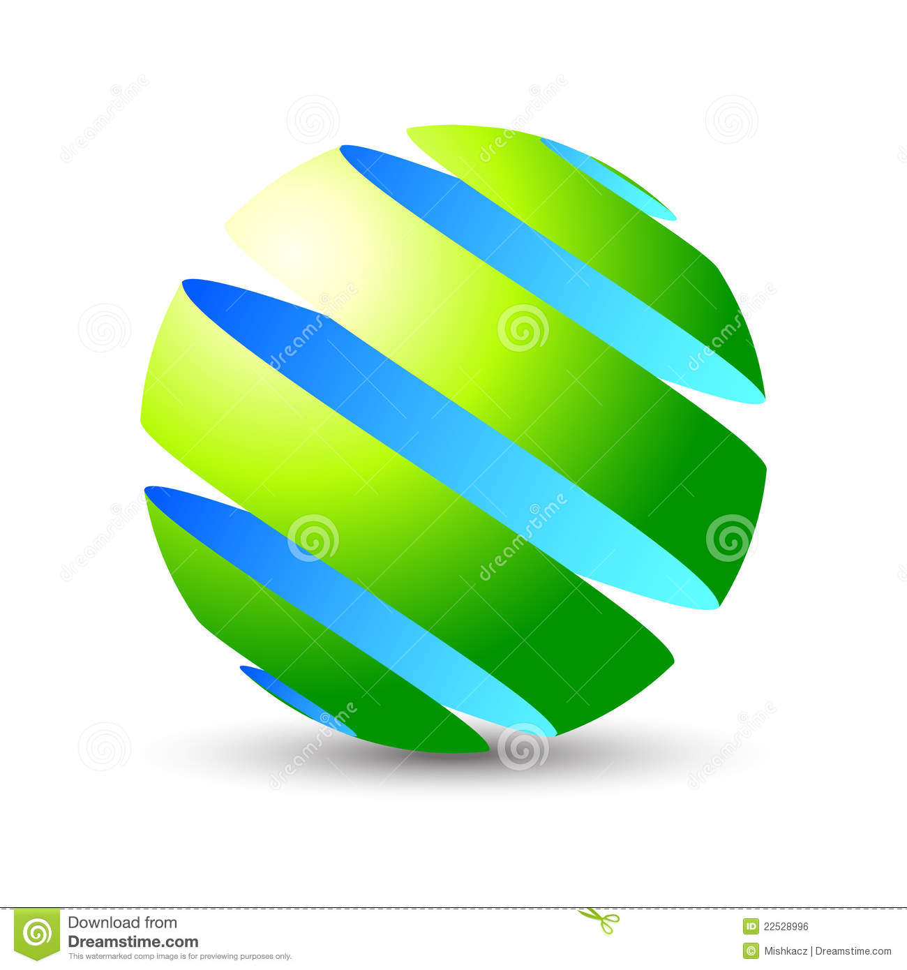 Z 3d Logo Design 3D sphere eco icon and logo
