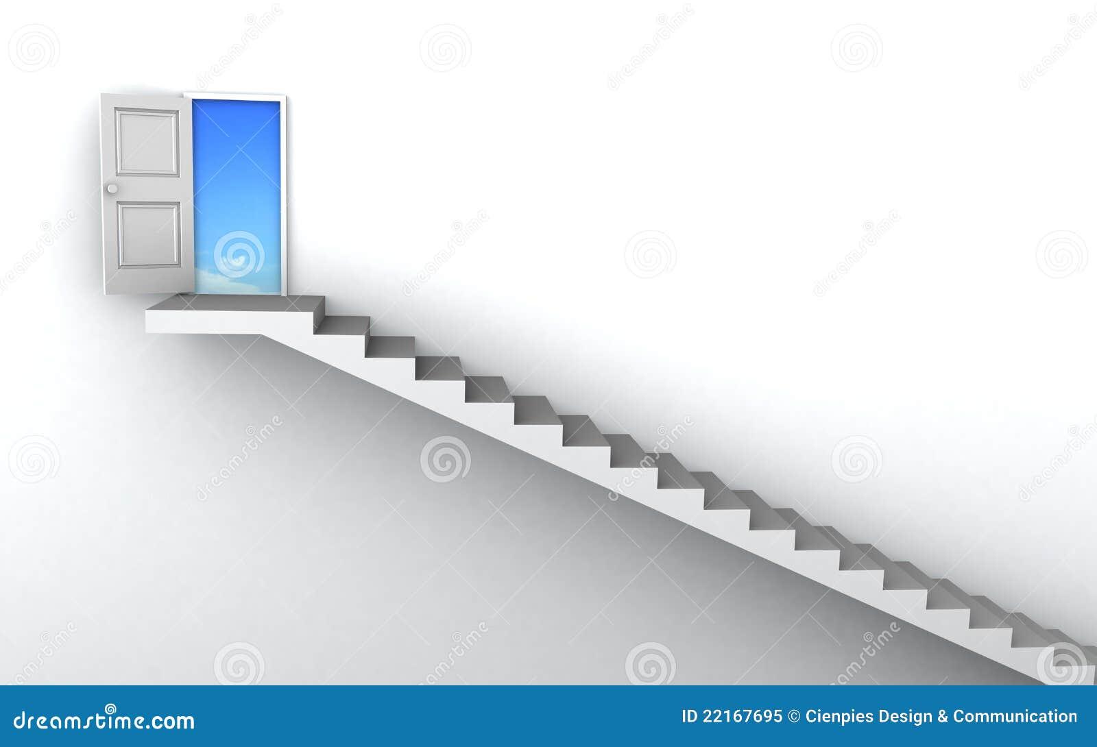 3D Stairs Up To Success Achievement Progress