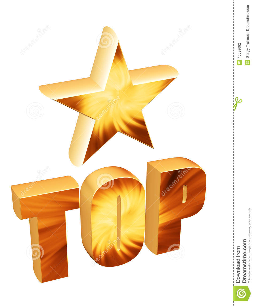 3d star and word top stock illustration illustration of rating