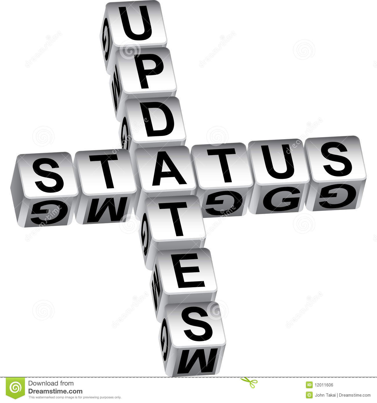 ... Status Update Dice Message Royalty Free Stock Image - Image: 12011606