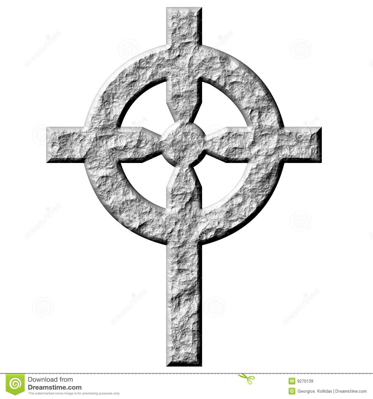 3d Stone Celtic Cross Royalty Free Stock Images Image
