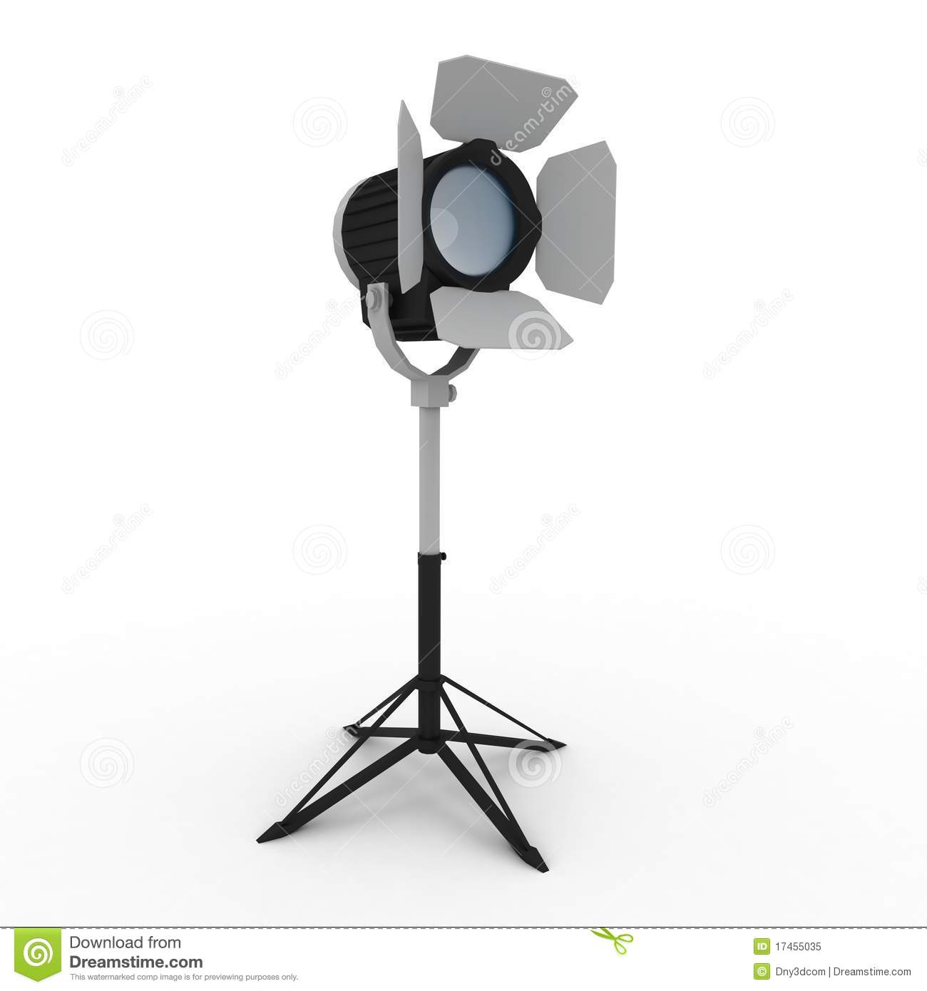 3d Studio Light With Stand Royalty Free Stock Photo