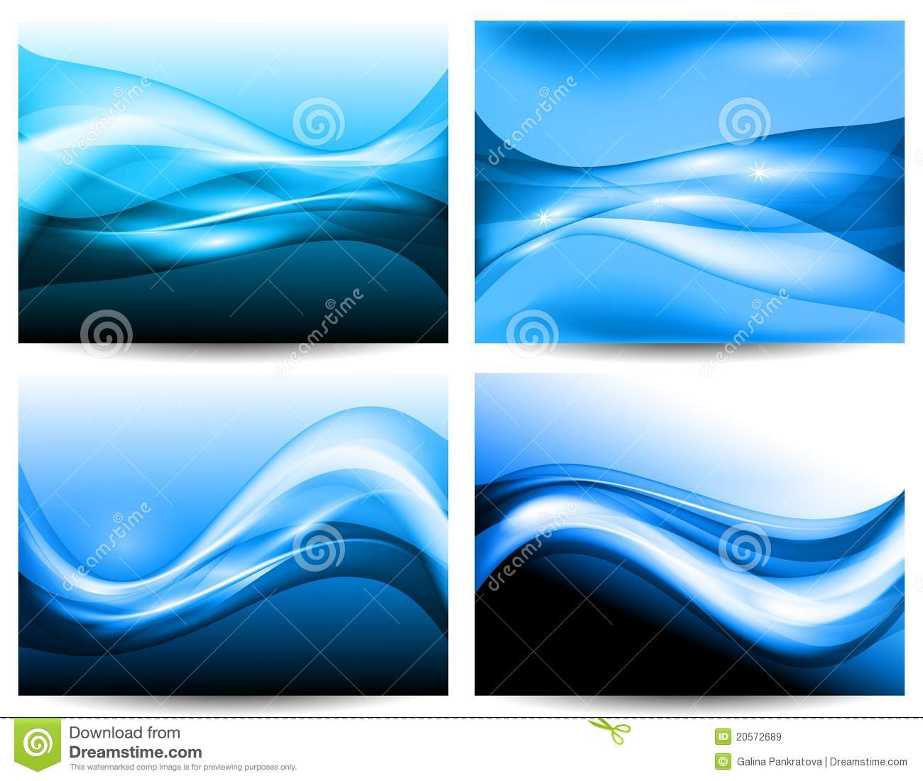 3d Stylized Water Waves Royalty Free Stock Images Image