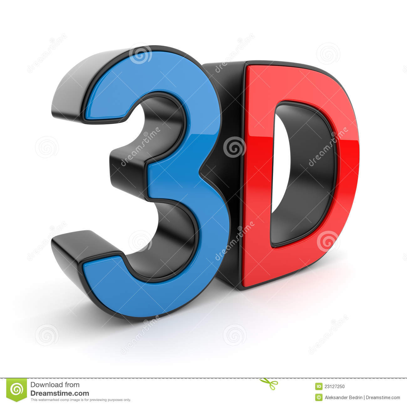 3d symbol of stereoscopic cinema icon stock illustration for 3d interieur ontwerpen gratis
