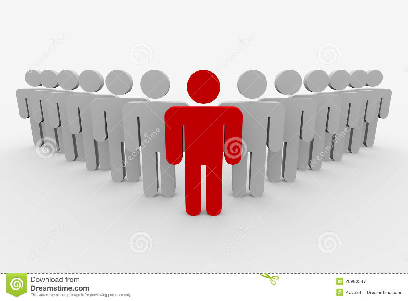 3D Team Leader Man. Concept. Royalty Free Stock Photography - Image