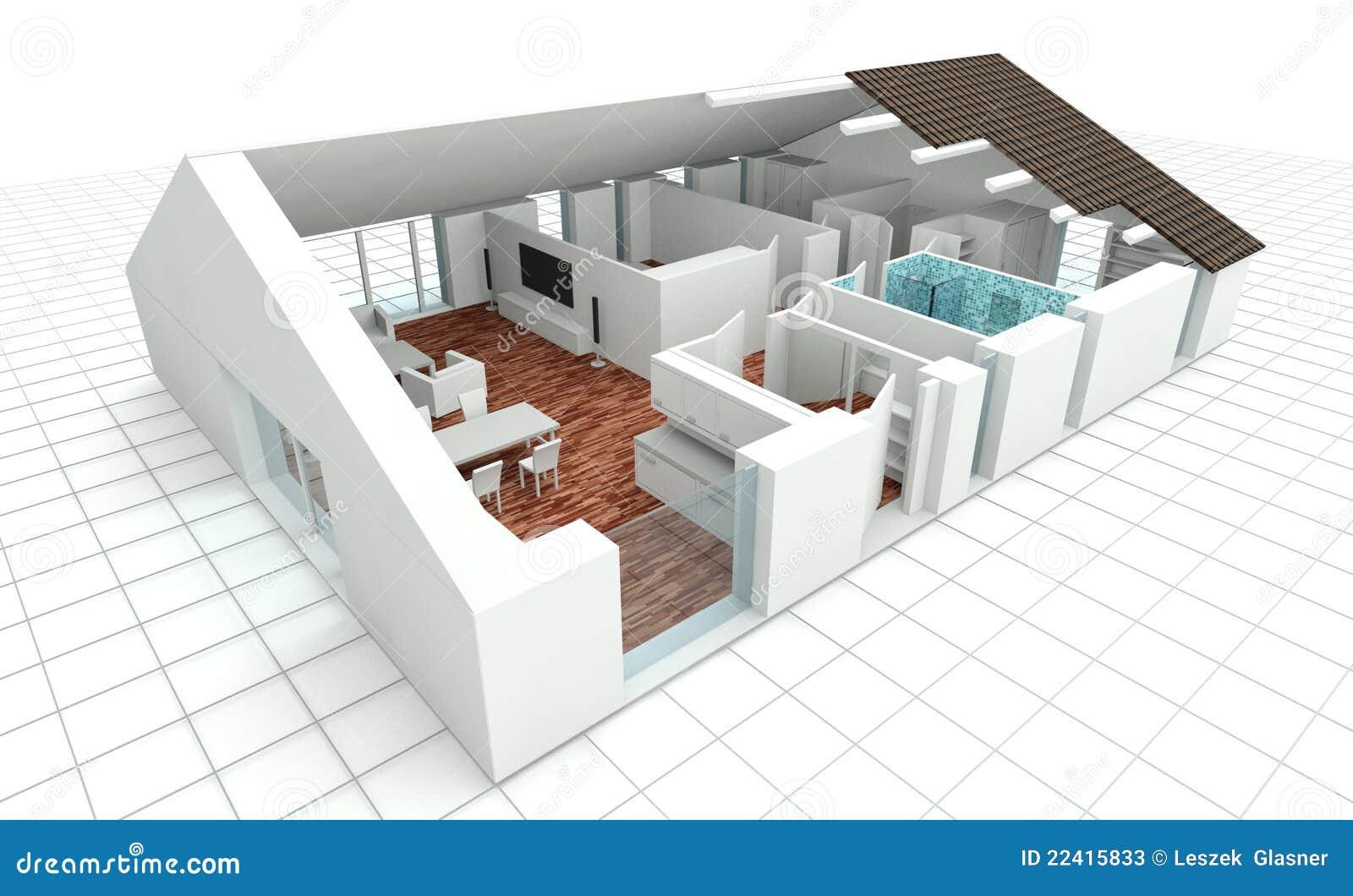 3d teruggevend huisplan stock foto 39 s afbeelding 22415833 - Plan de maison ecologique gratuit ...