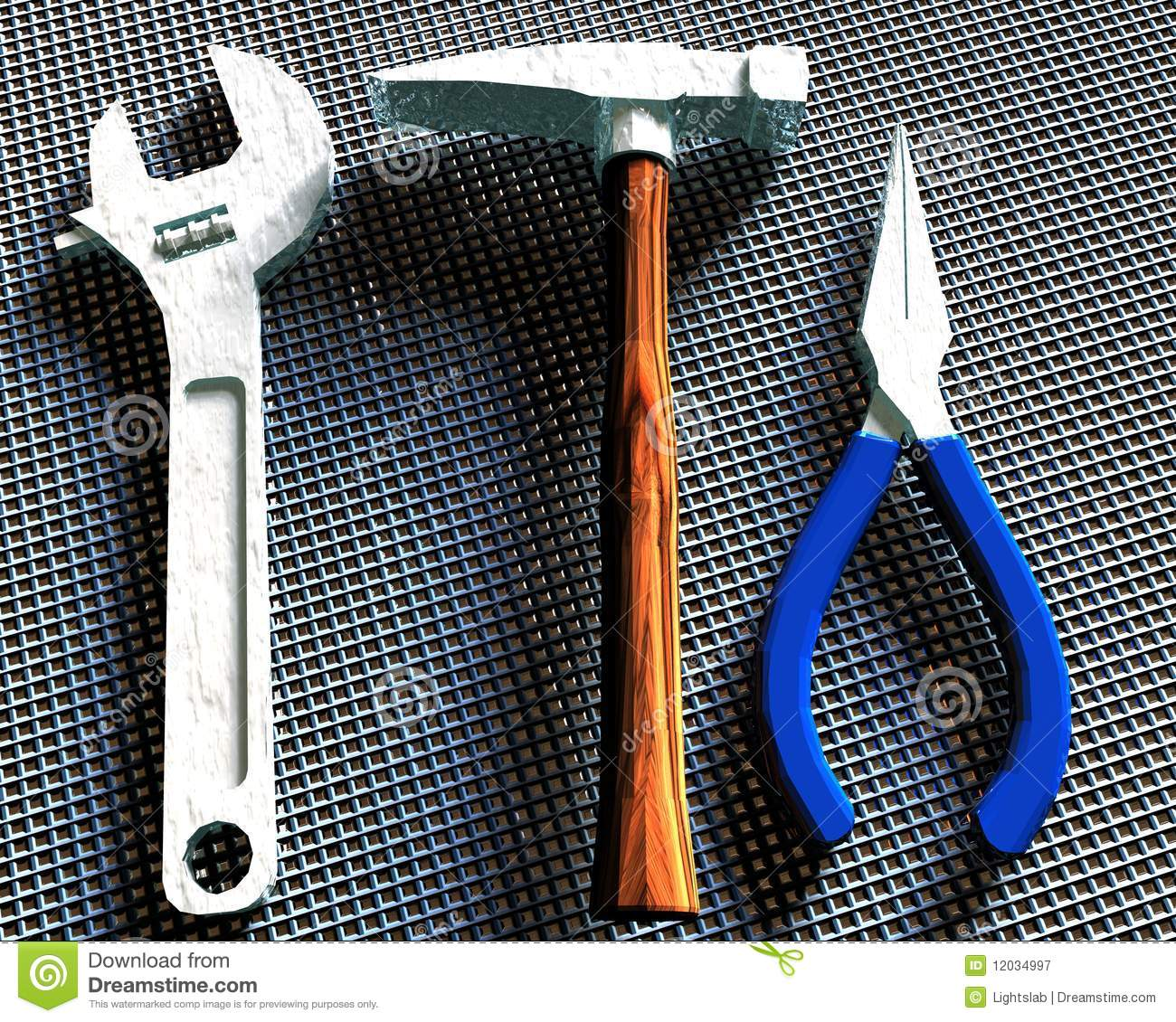 3d Tools Royalty Free Stock Photography Image 12034997