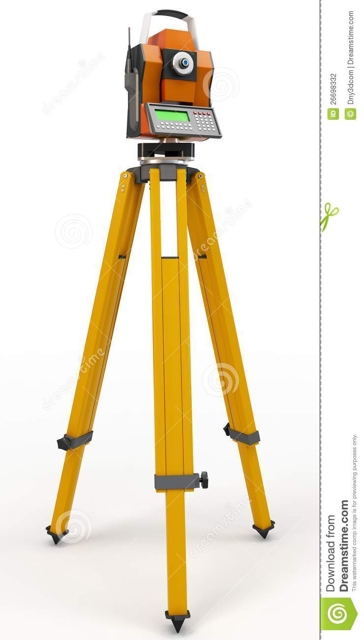 3d Total Station Theodolite Stock Photography Image