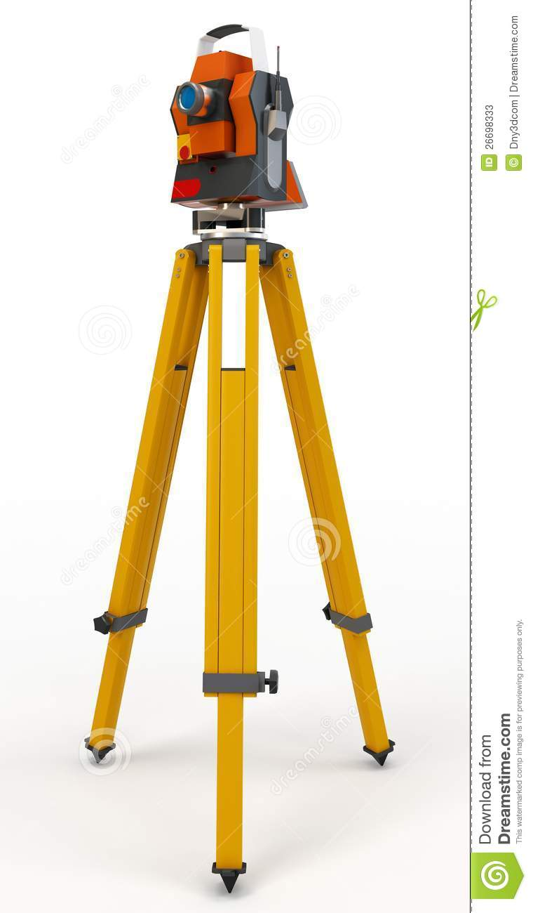 3d Total Station Theodolite Stock Photos Image 26698333