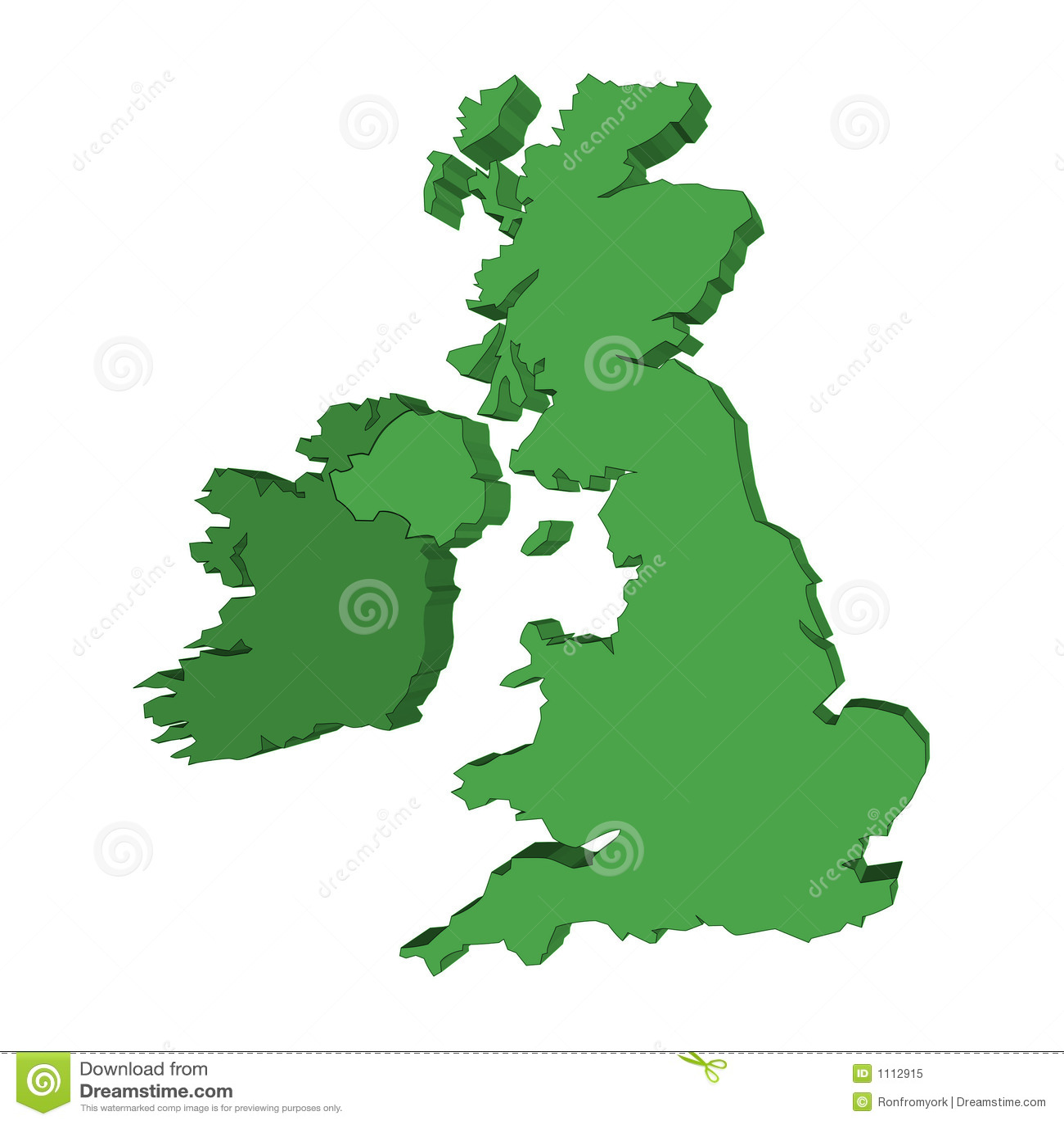 D UK And Ireland Map Stock Illustration Illustration Of Europe - Ireland map download