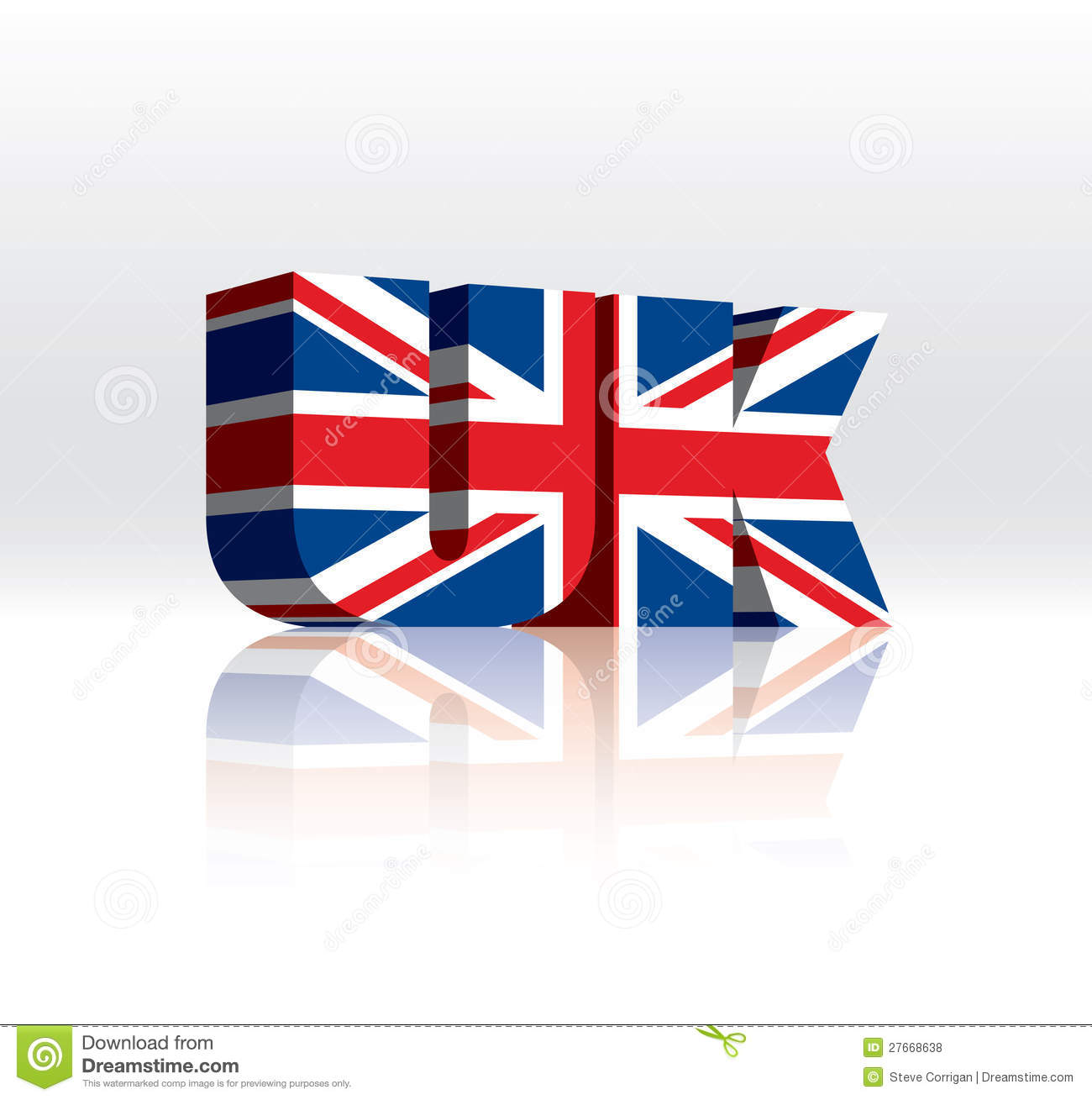uk text with british flag stock photo image 18125550