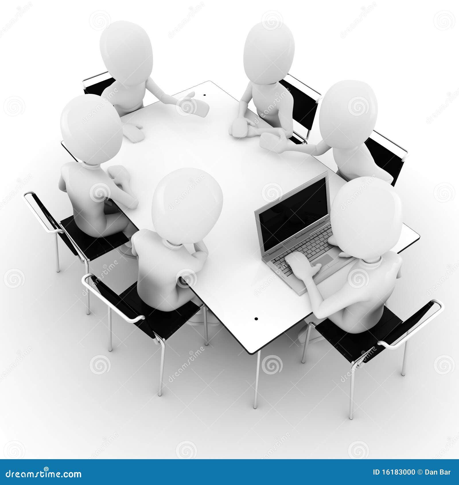 3d uomo, commercio riunione-isolato su bianco