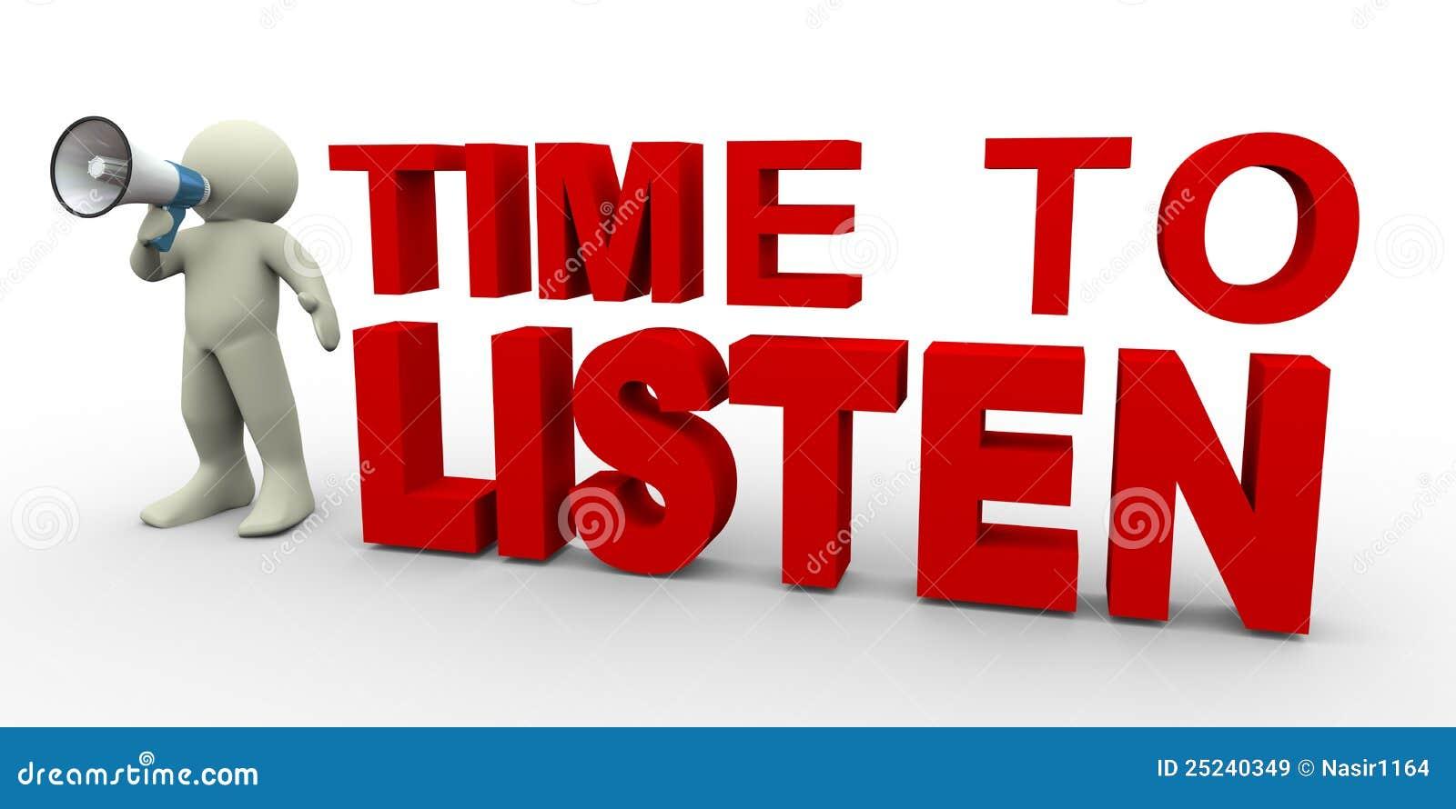3d uomo - tempo di ascoltare