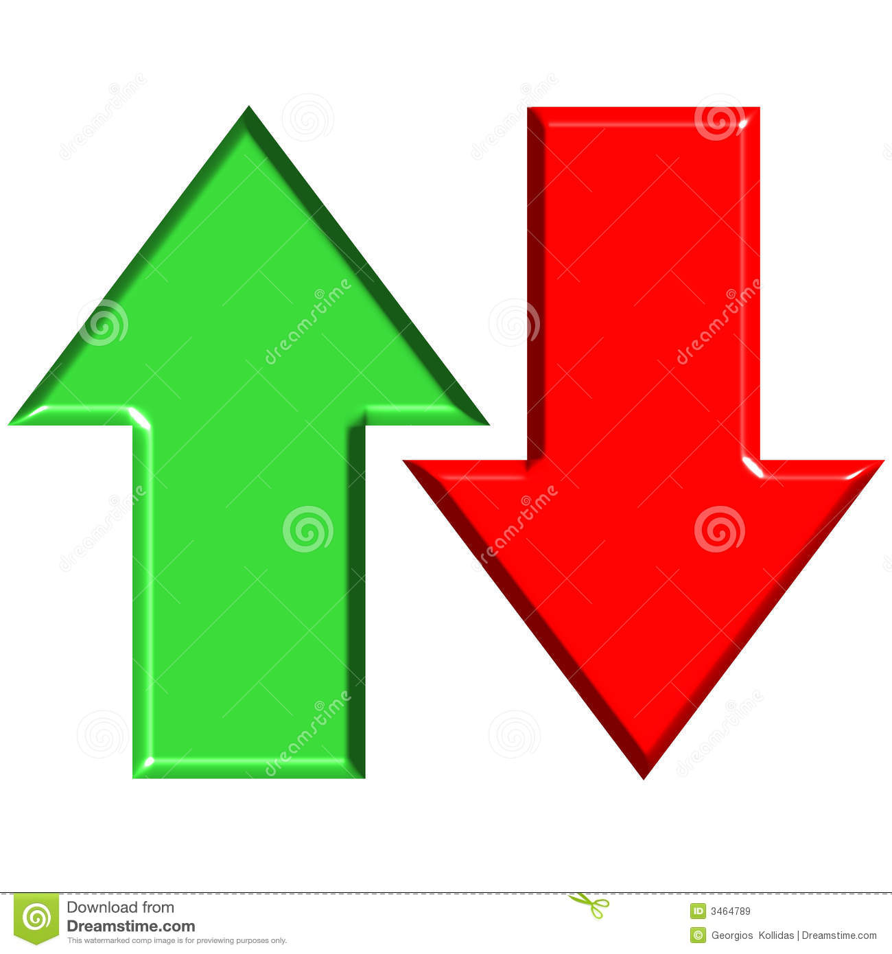 3d Up And Down Arrows Royalty Free Stock Images Image