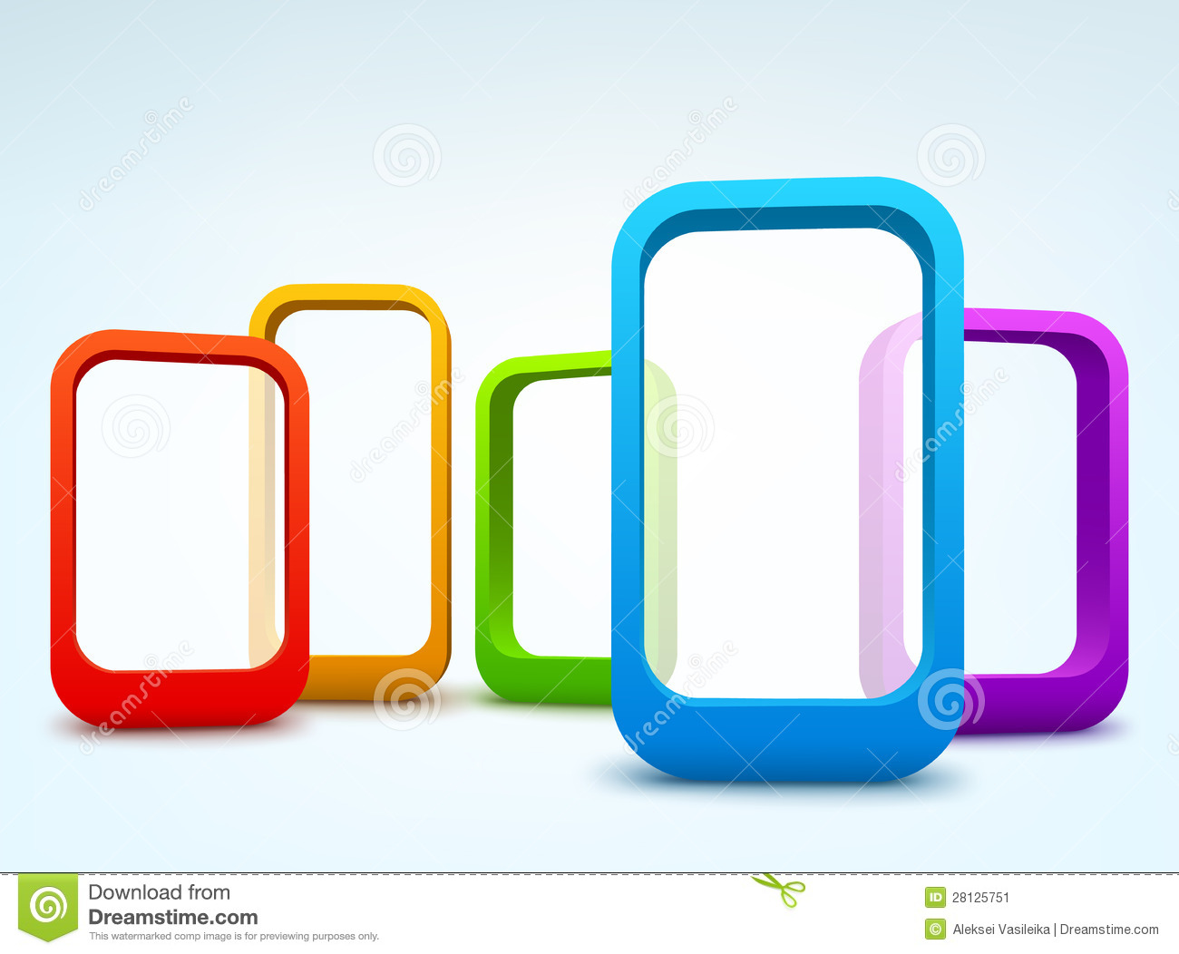 3d Vector Frames Stock Vector. Illustration Of Graphic