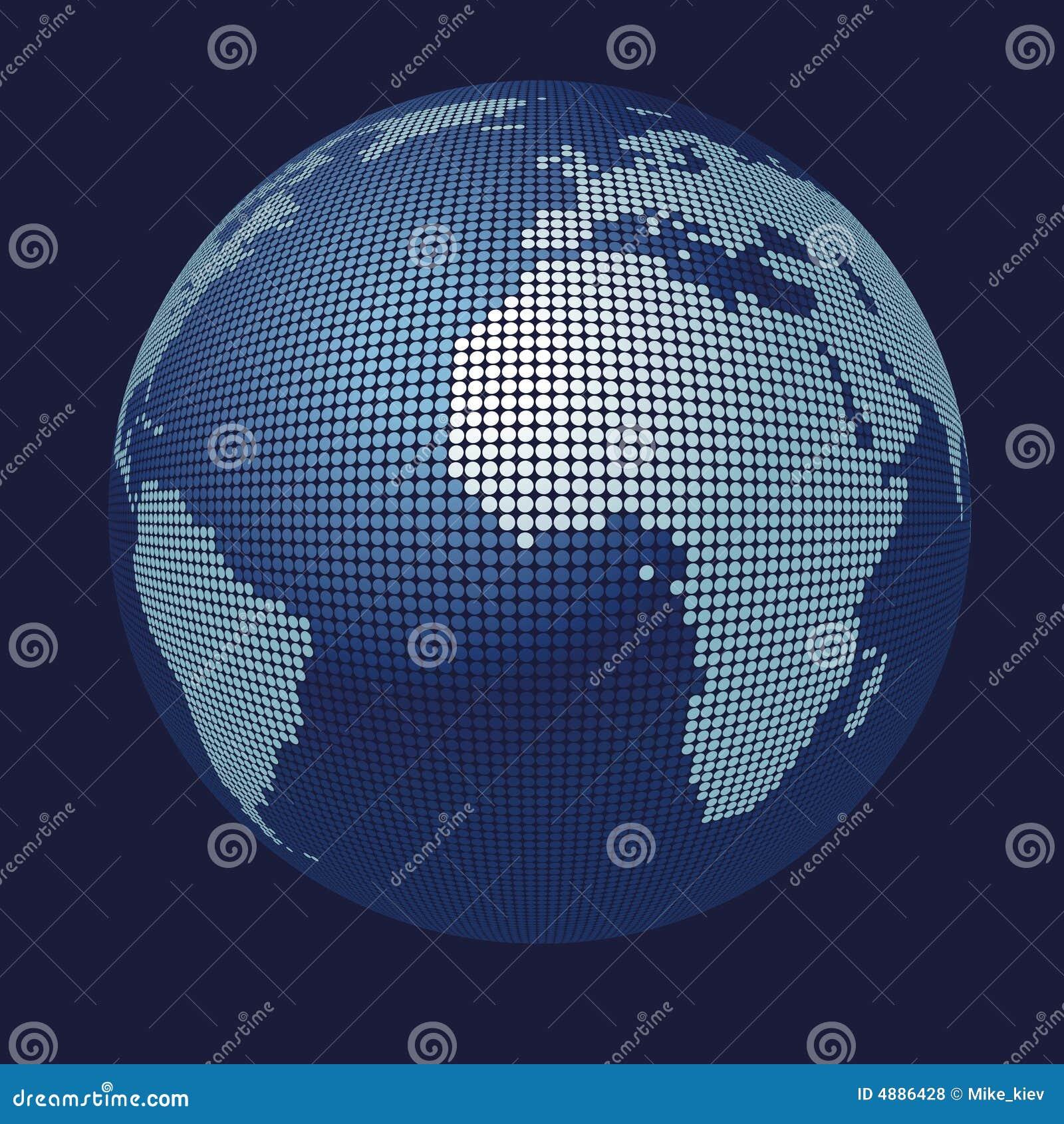 3D Vector Globe Map Royalty Free Stock Photos - Image: 4886428