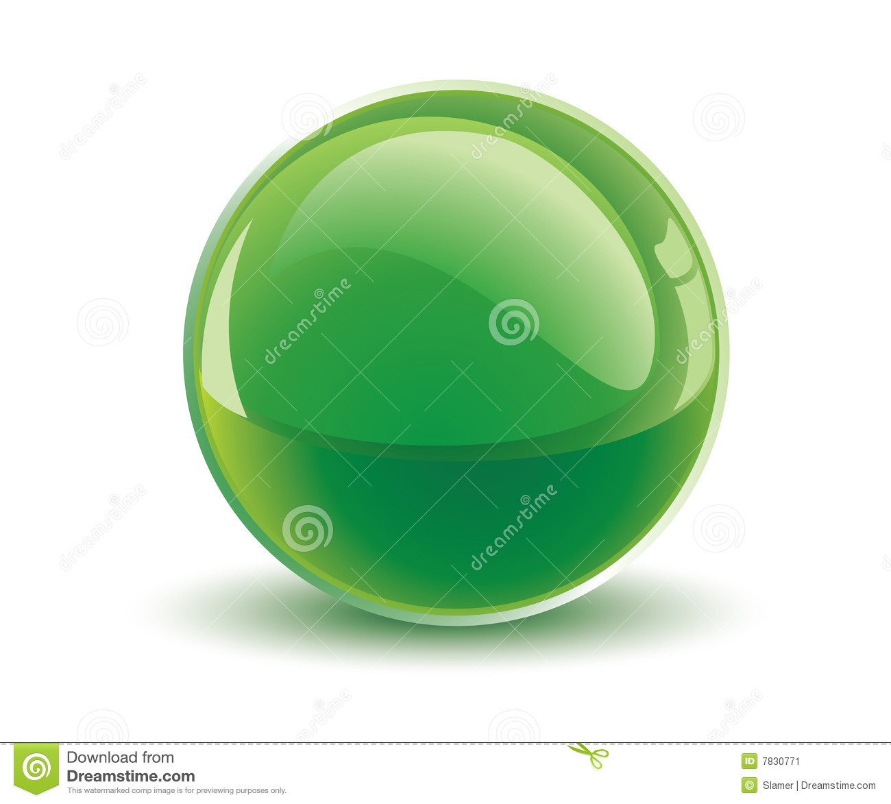 3d vector green sphere