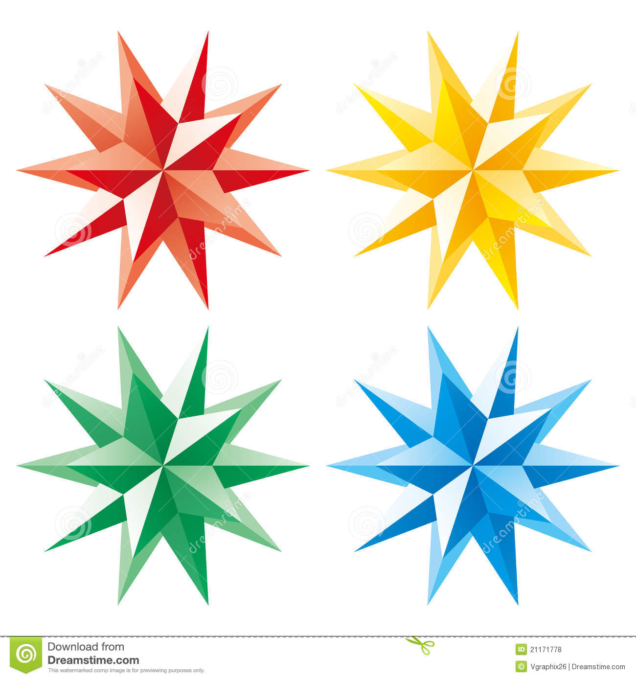 3d Vector Shining Star Royalty Free Stock Photos - Image: 21171778
