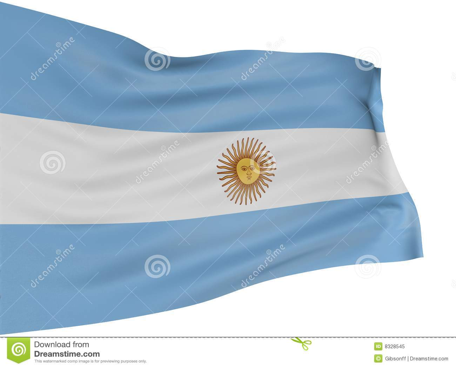 3D vlag van Argentinië