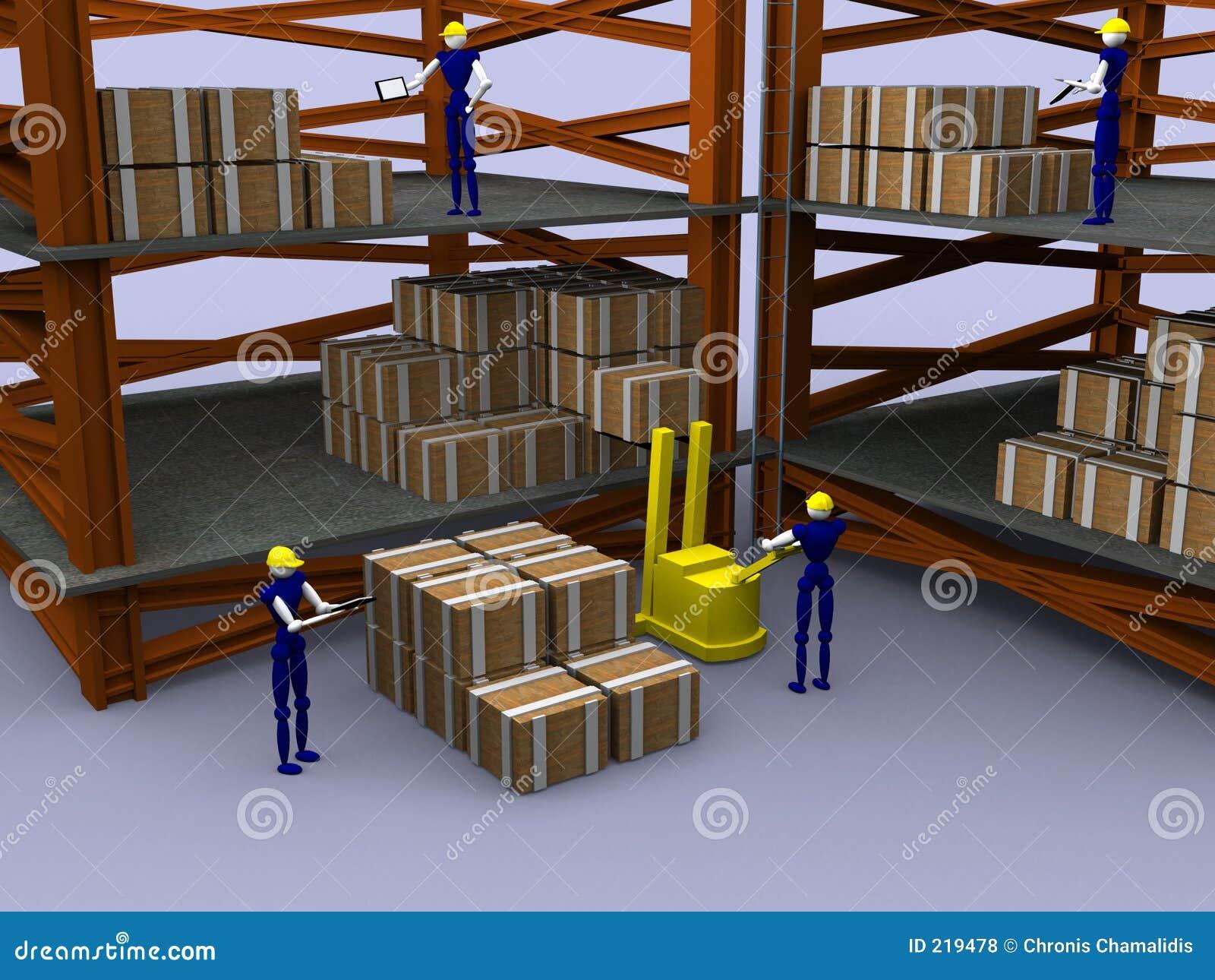 3d Warehouse Vol 2 Stock Illustration Illustration Of