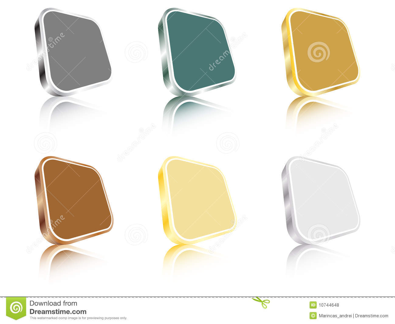 3d Web Buttons Royalty Free Stock Photos Image 10744648